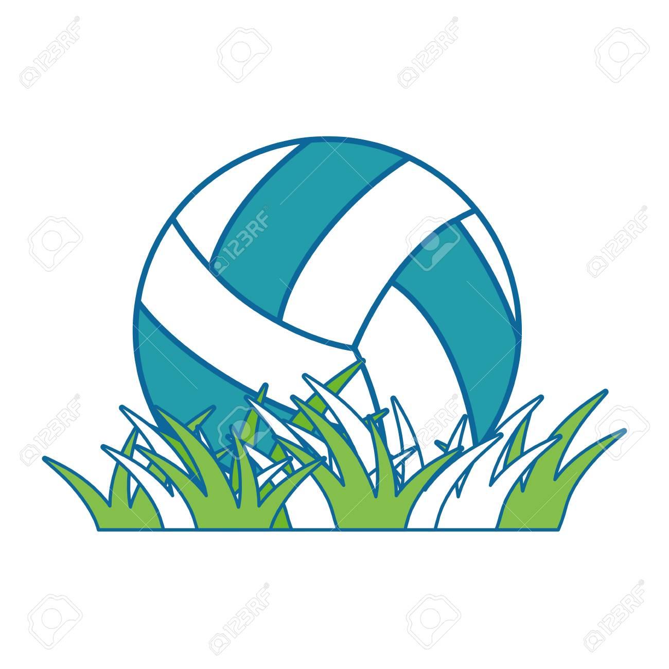 volleyball ball grass icon vector illustration graphic design rh 123rf com