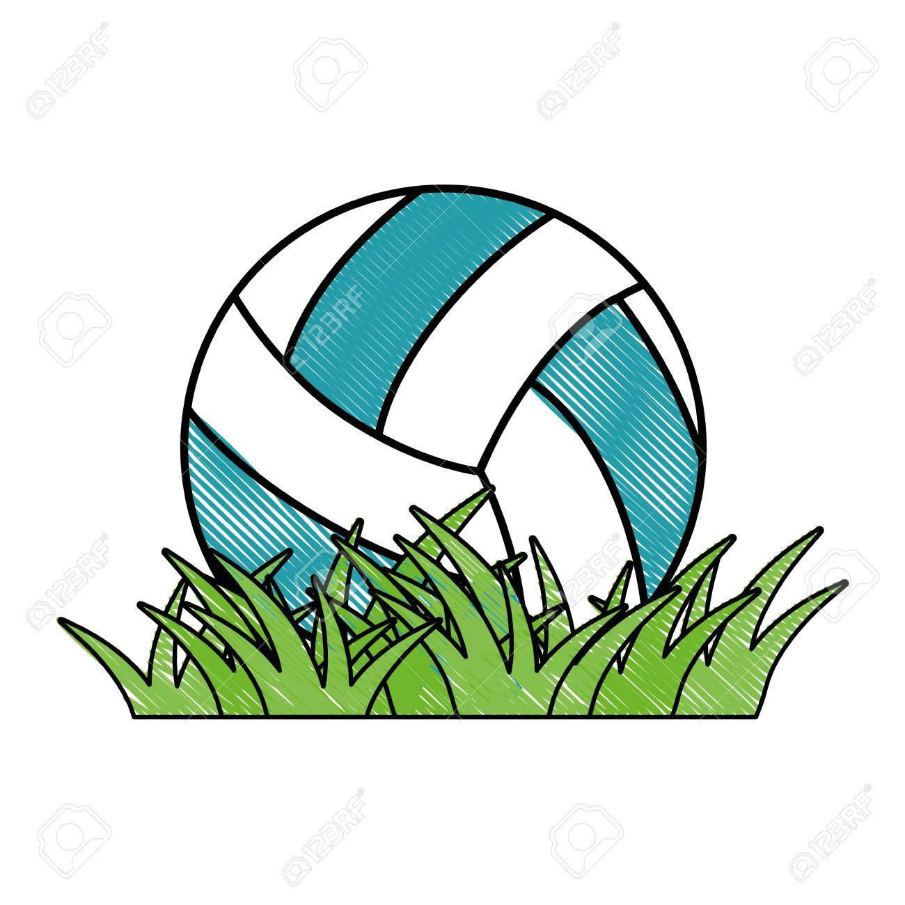 volleyball ball grass icon vector illustration graphic design rh 123rf com  volleyball graphic designs
