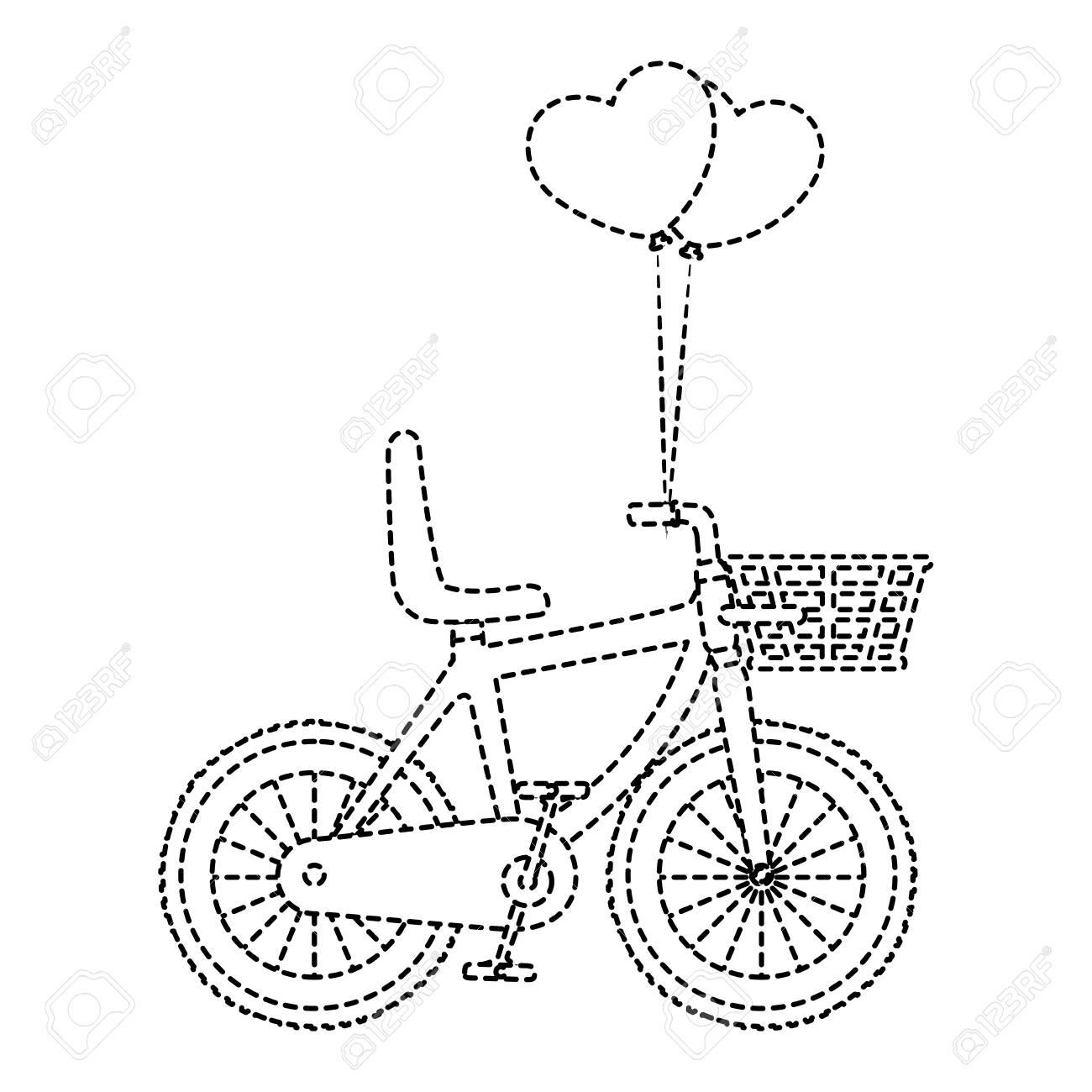 バスケット ベクトル イラスト デザインでかわいい自転車のイラスト素材