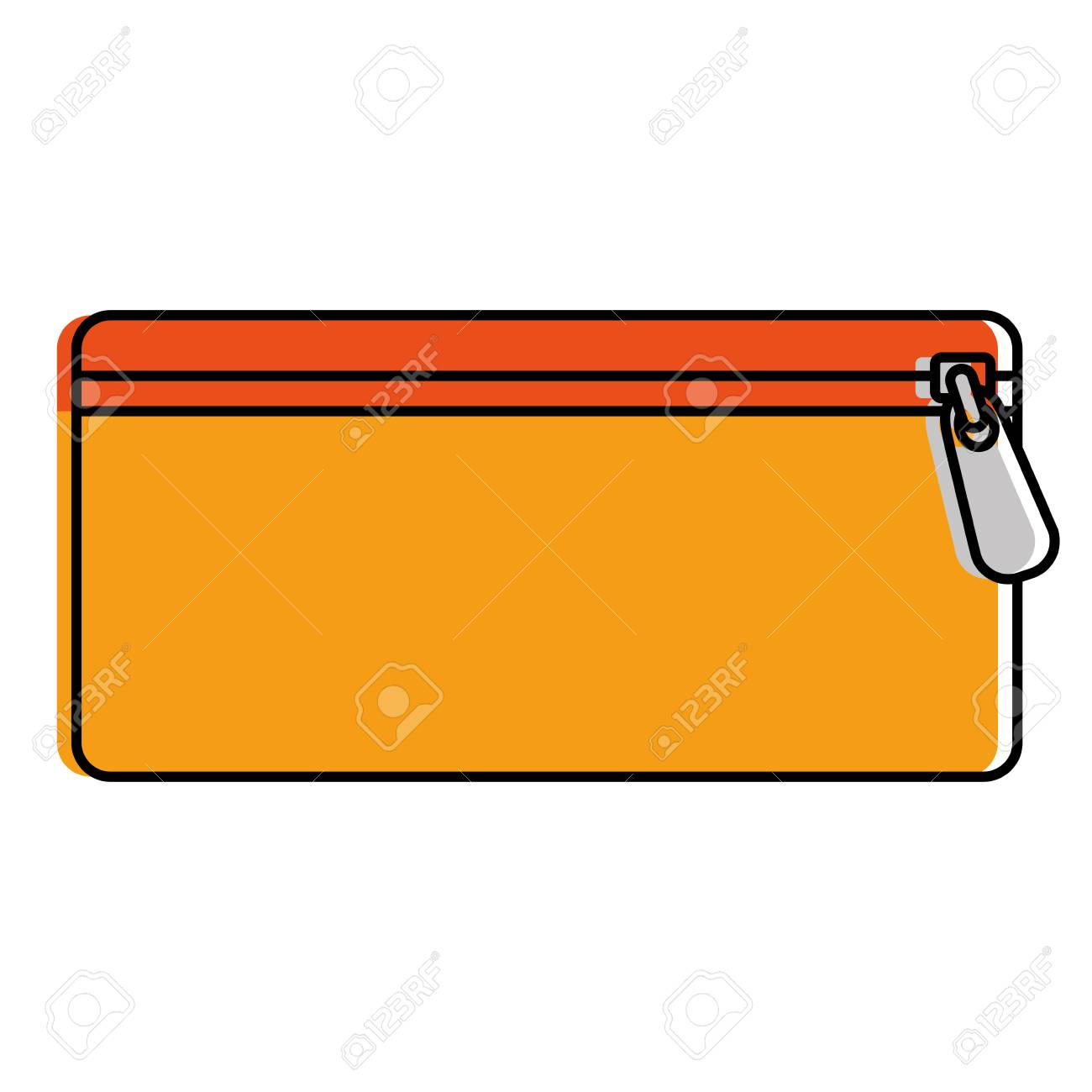 Pencil Case With Pen And Colors Vector Illustration Design Royalty Free  Cliparts, Vectors, And Stock Illustration. Image 85367253.