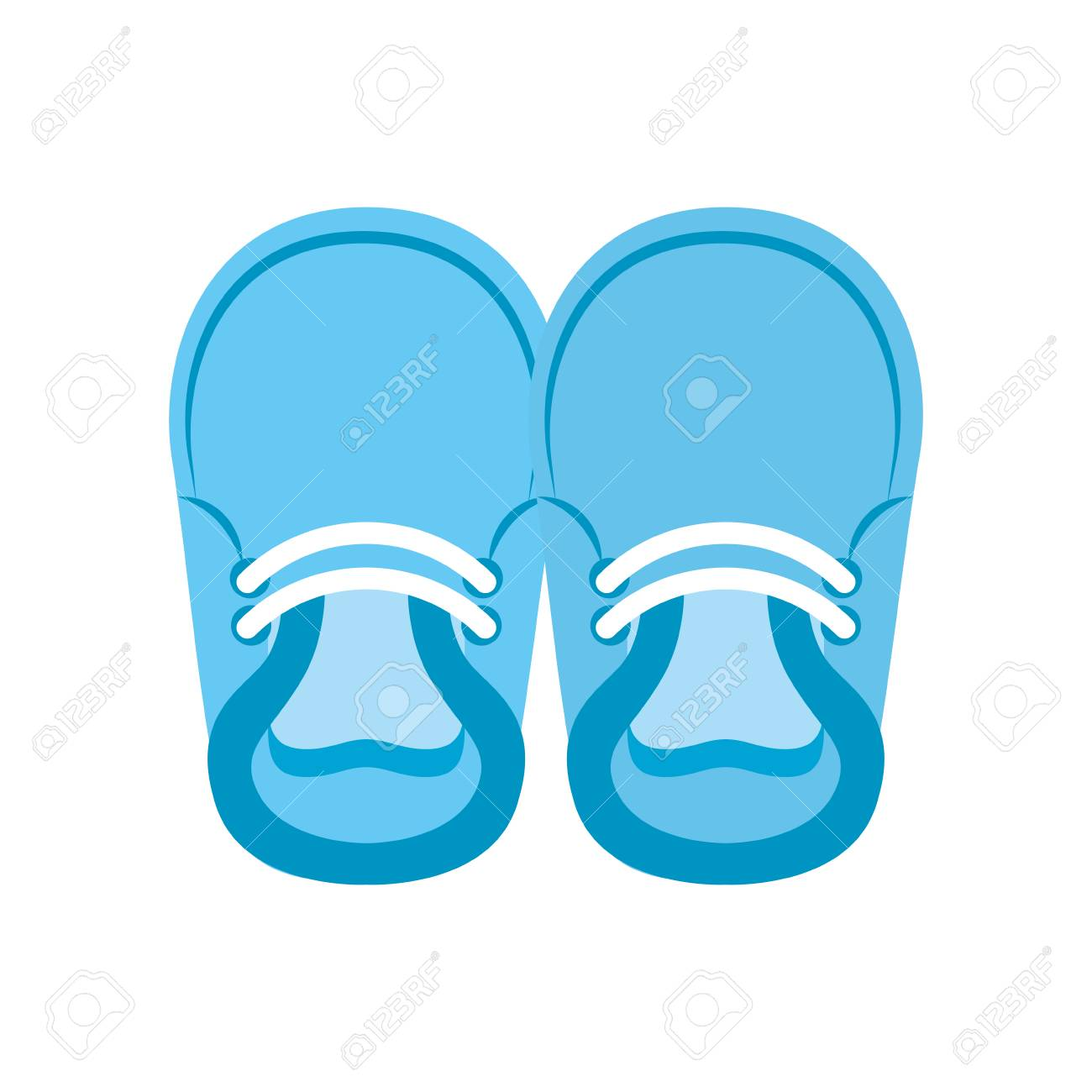 Baby Booties For Boy Child Cute Image Vector Illustration Royalty Free Cliparts Vectors And Stock Illustration Image 85457689
