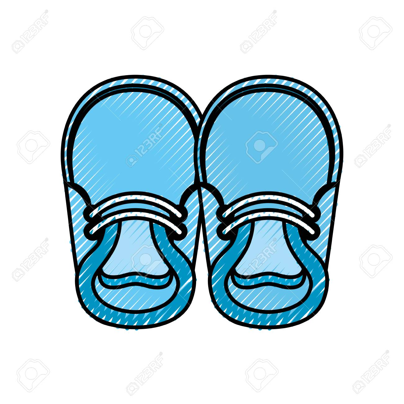 baby booties for boy child cute image vector illustration royalty rh 123rf com baby sandals clipart blue baby booties clipart