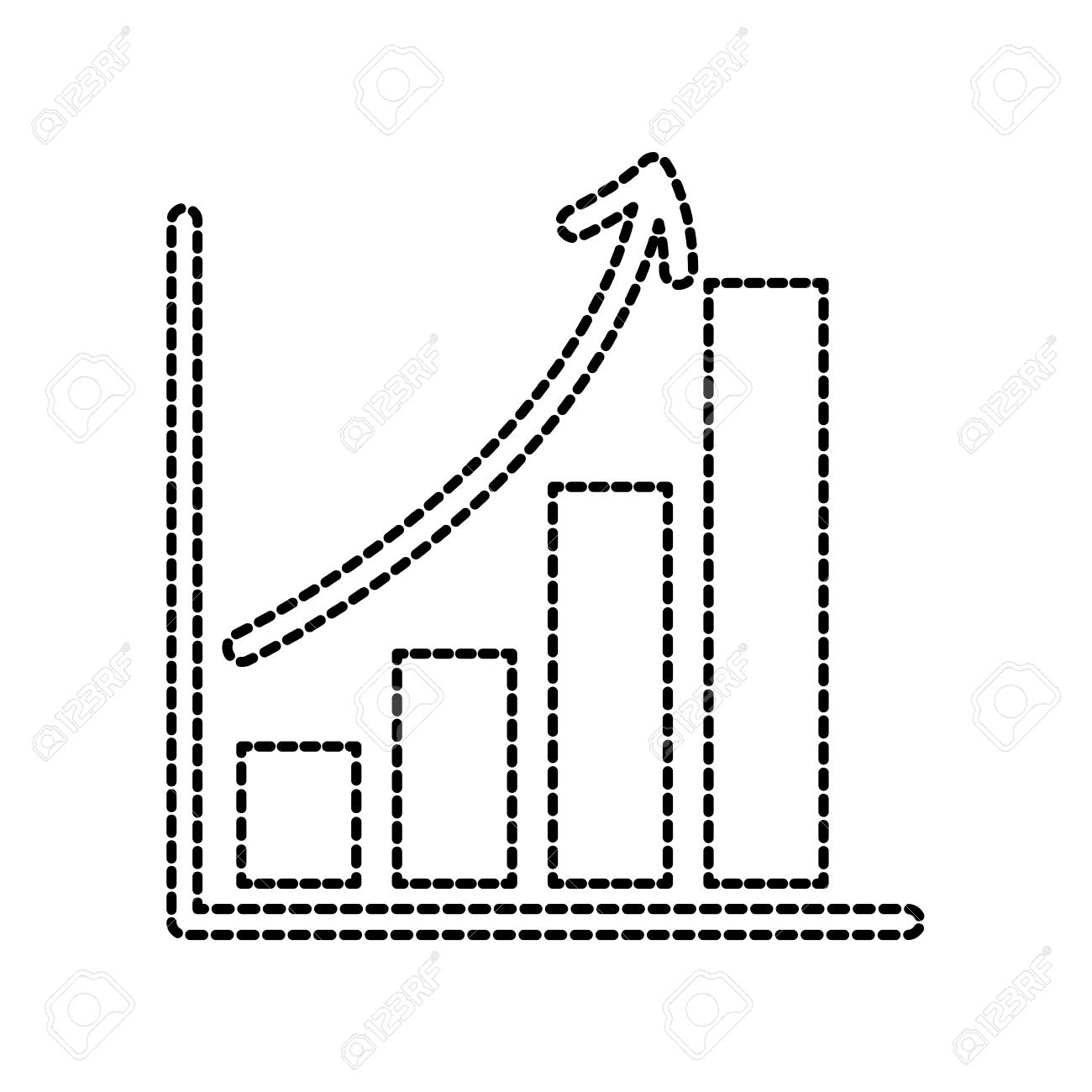 business growth bar graph finance increase vector illustration