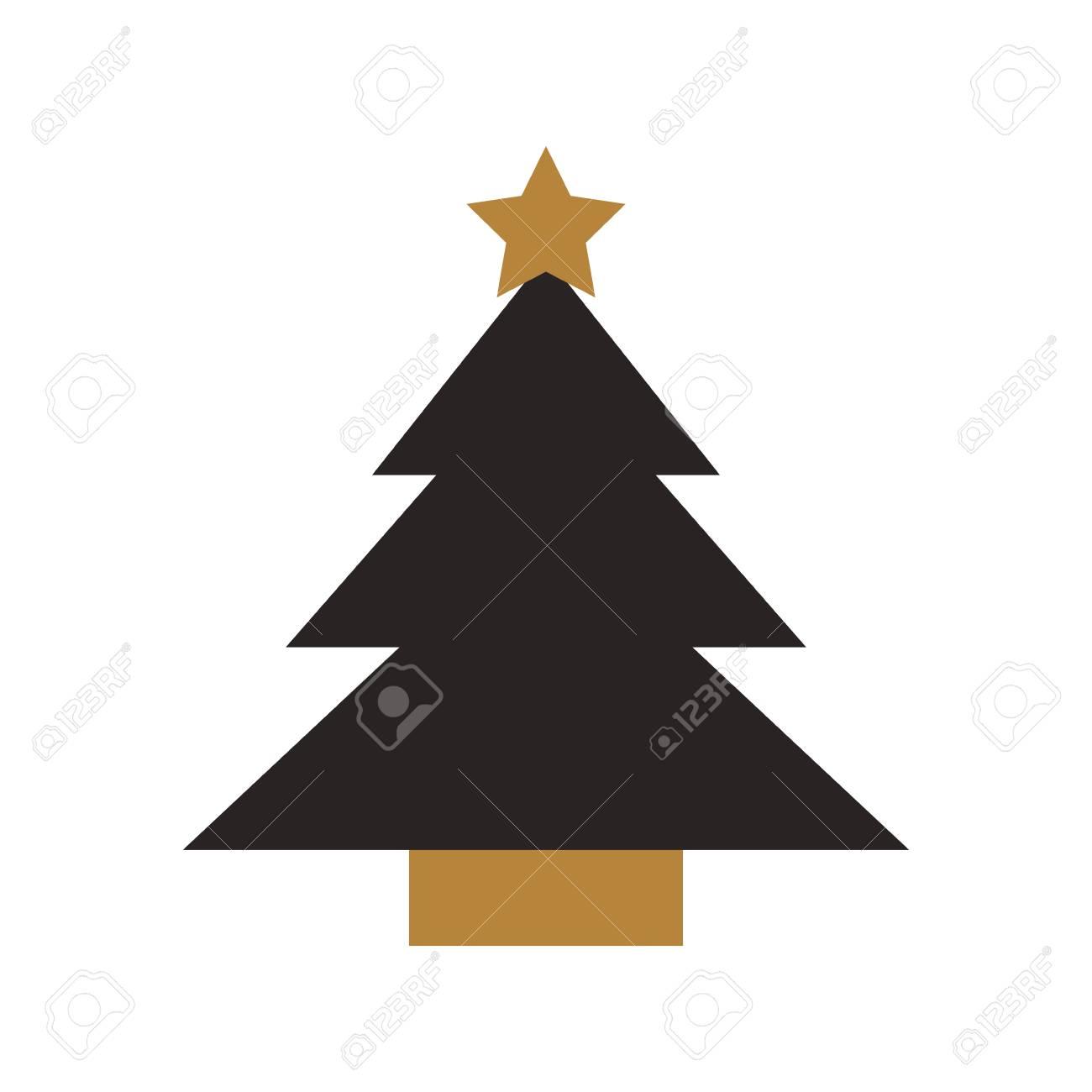 Ilustración De Vector De Dibujos Animados De Estrella De árbol De