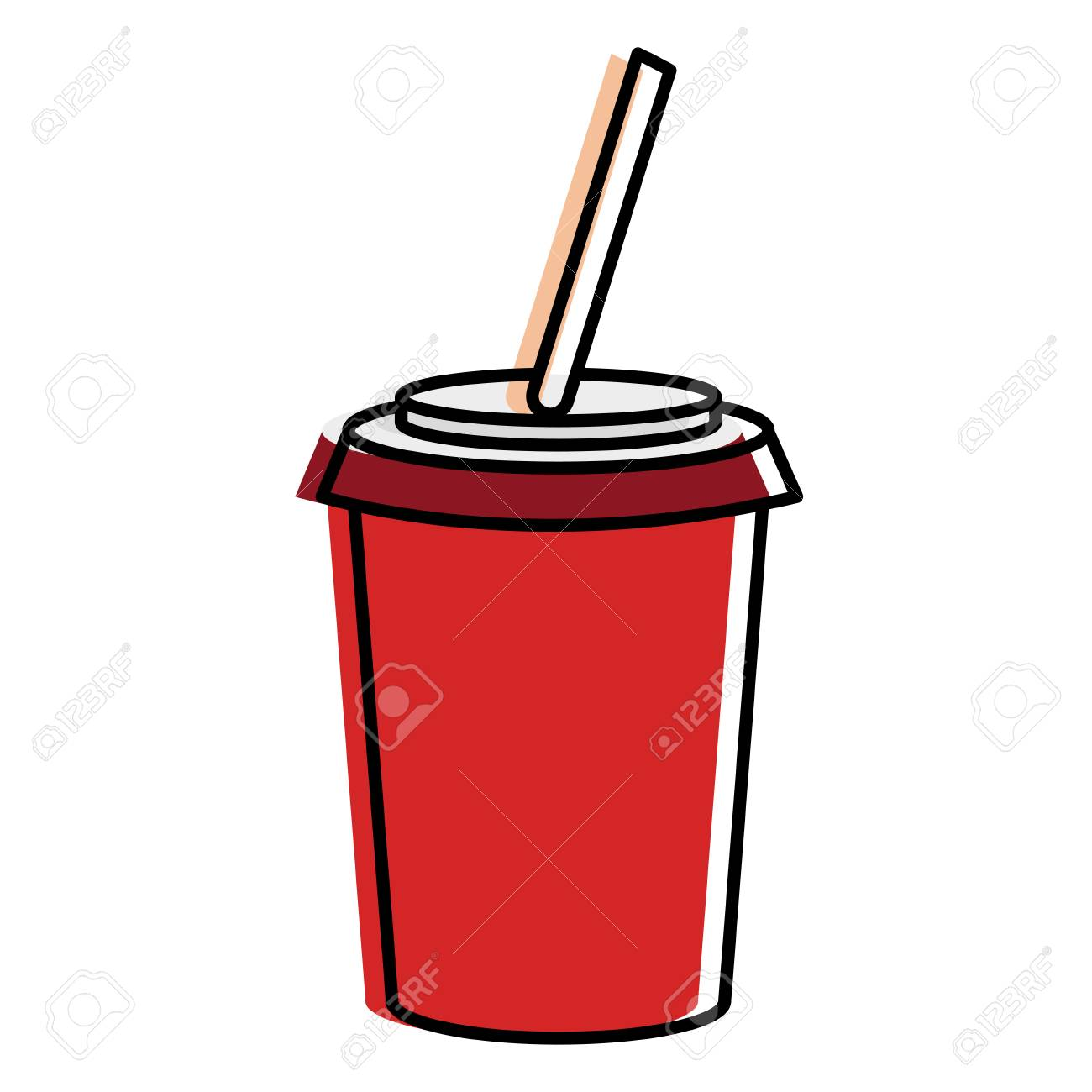 tasse de soda isol ic ne vector illustration design clip art libres rh fr 123rf com