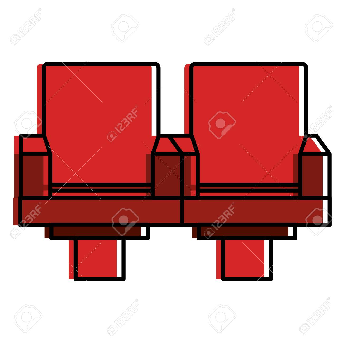 Cinema Chairs Isolated Icon Vector Illustration Design Stock Vector    85729813