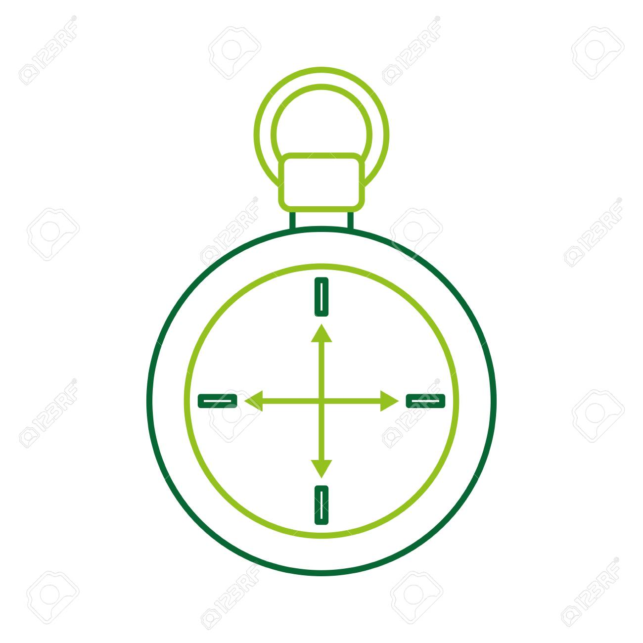 Compass Symbol Of Tourism Adventure Travel Camping Vector