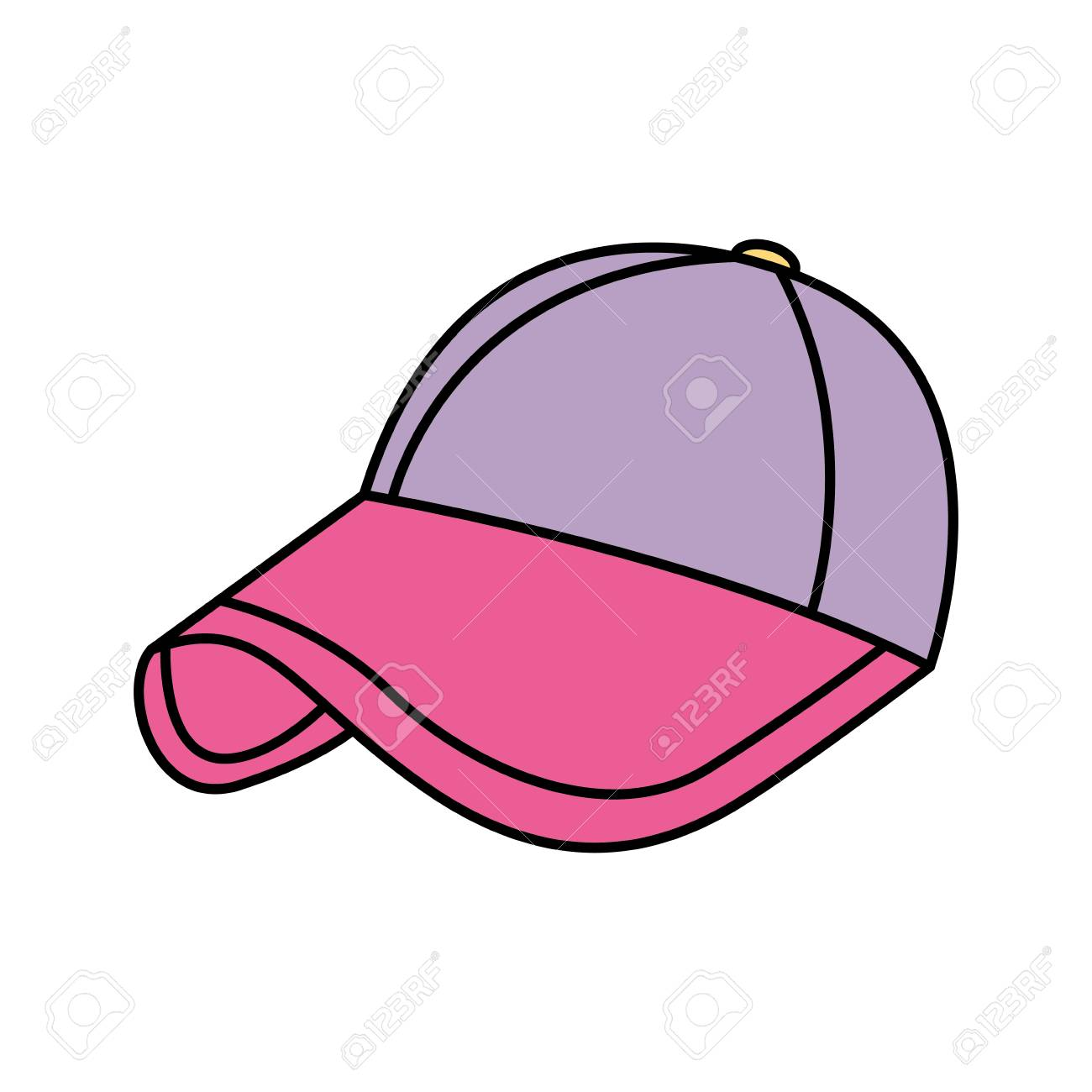 pink baseball cap clipart