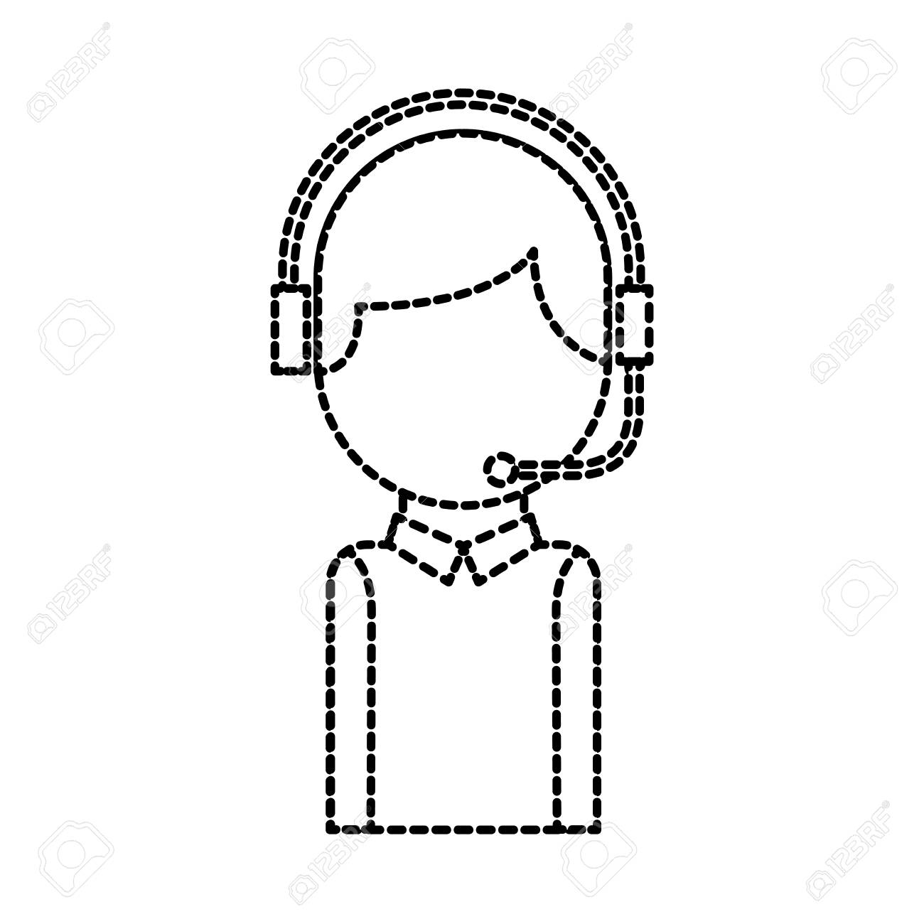Call Center Operator With Phone Headset Vector Illustration Royalty Free Cliparts Vectors And Stock Illustration Image 86641867