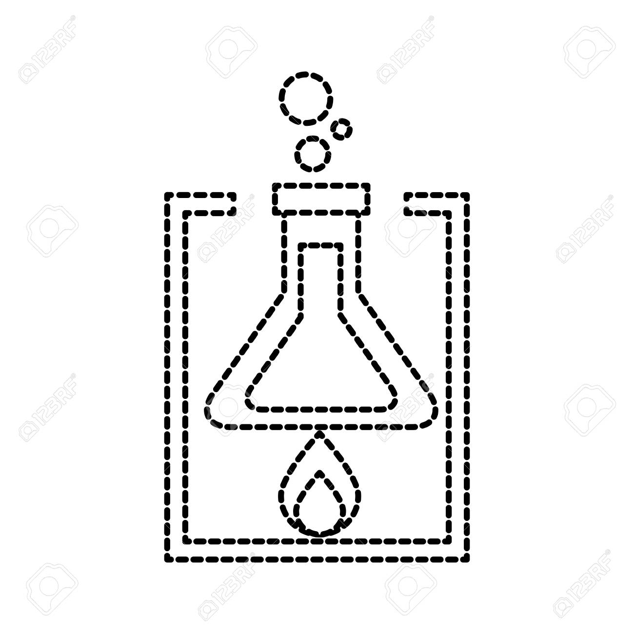 Black and White Test Tubes in a Holder Clip Art - Black and White Test Tubes  in a Holder Vector Image