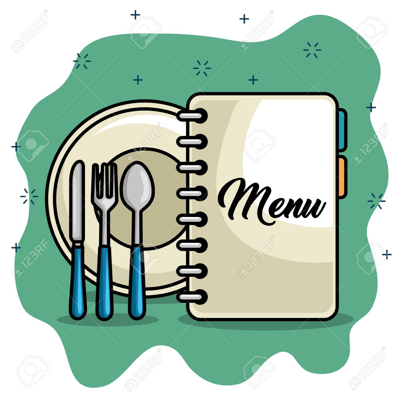 Dessin Restaurant menu restaurant dessin animé vector illustration design graphique