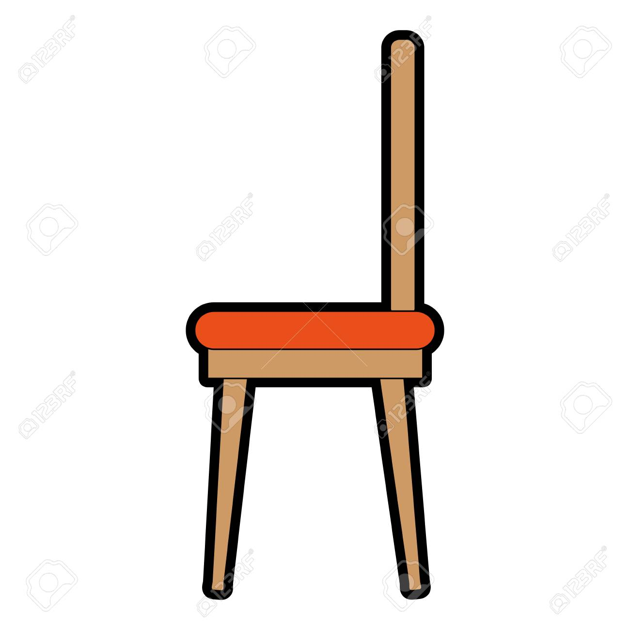 Dining Room Chair Icon Vector Illustration Design Stock