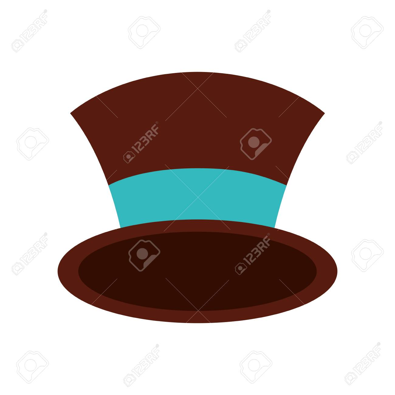 Christmas Top Hat.Christmas Top Hat Of Snowman Accessory Vector Illustration