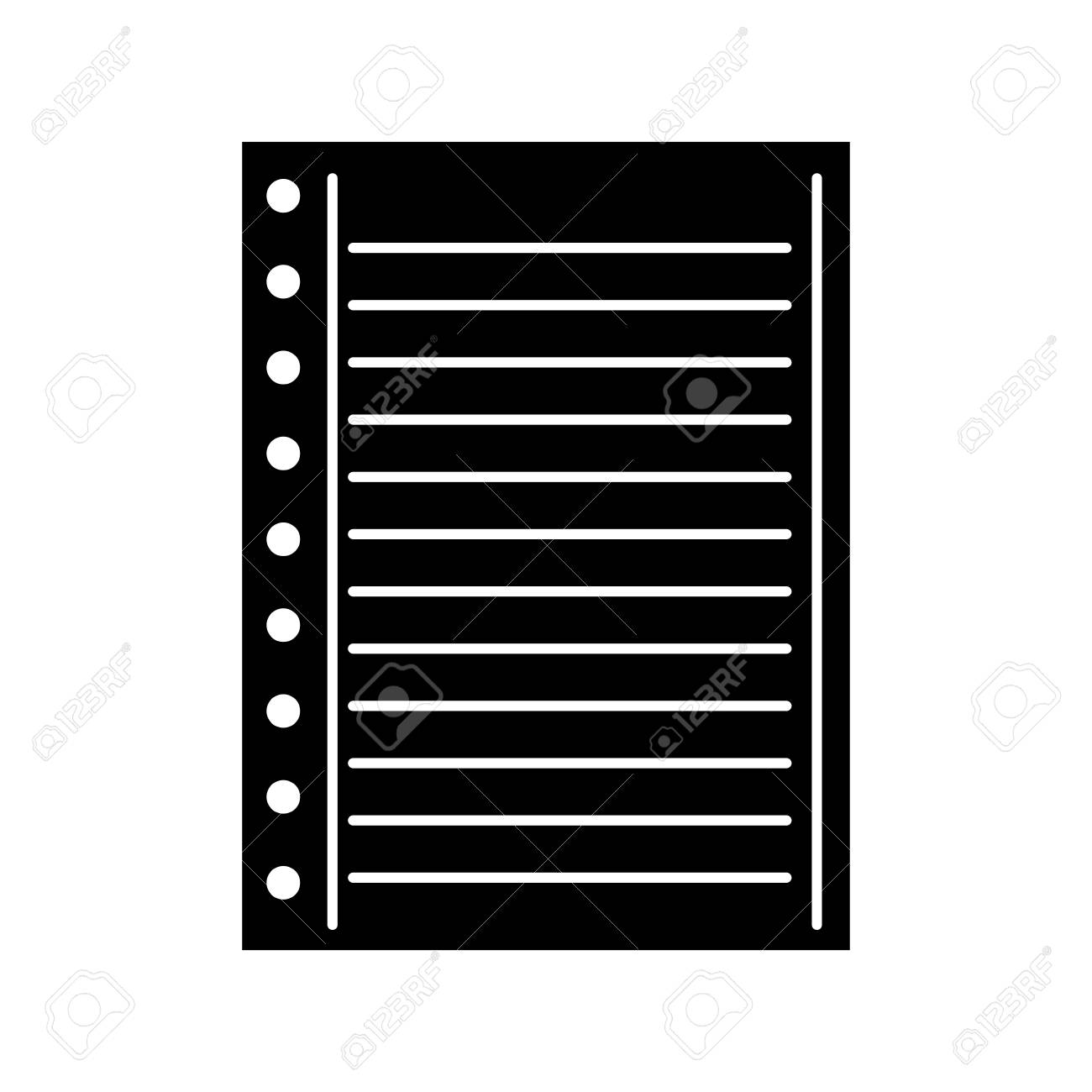 Lined Paper Note Page Blank School Vector Illustration Royalty Free ...