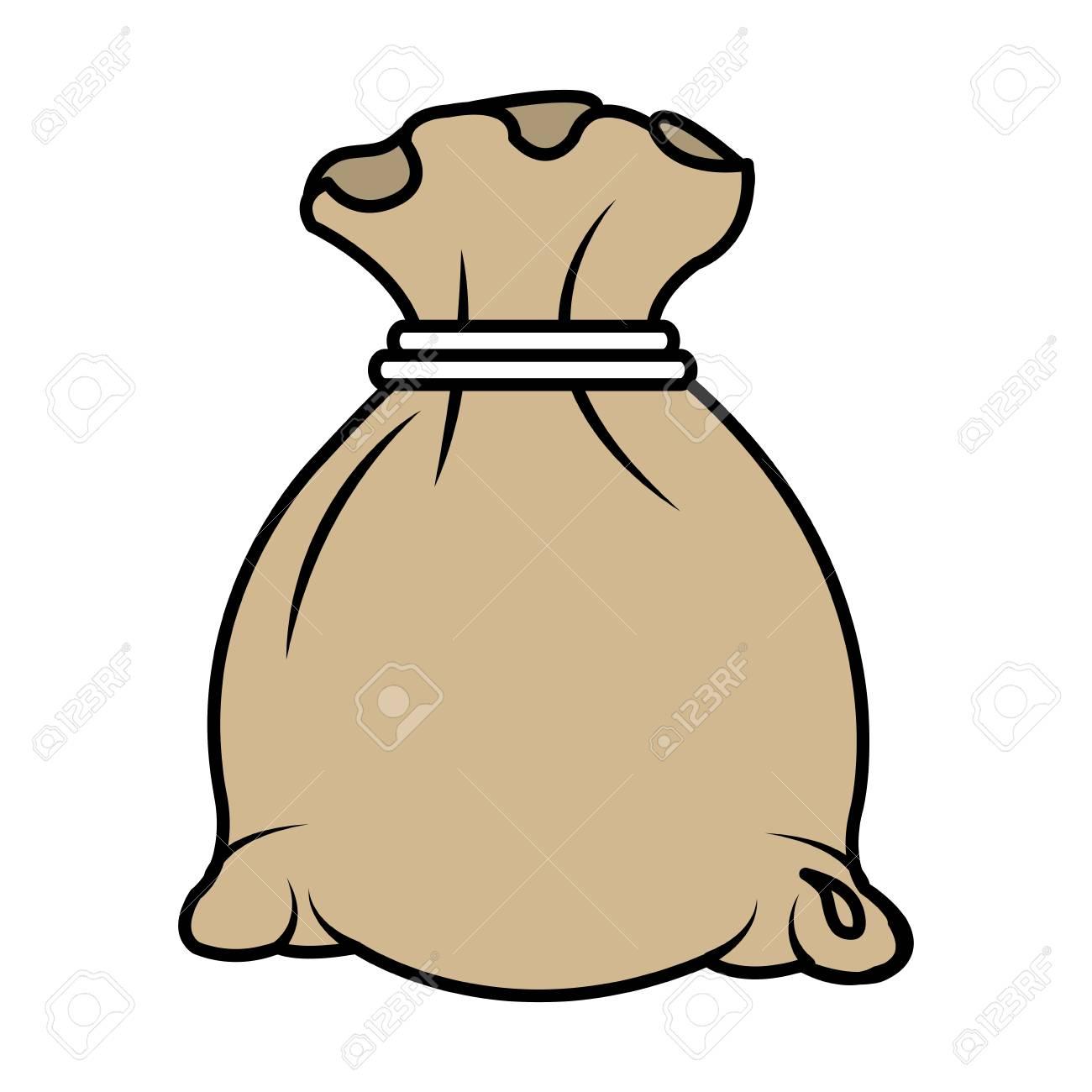 money bag isolated icon vector illustration design - 87669946