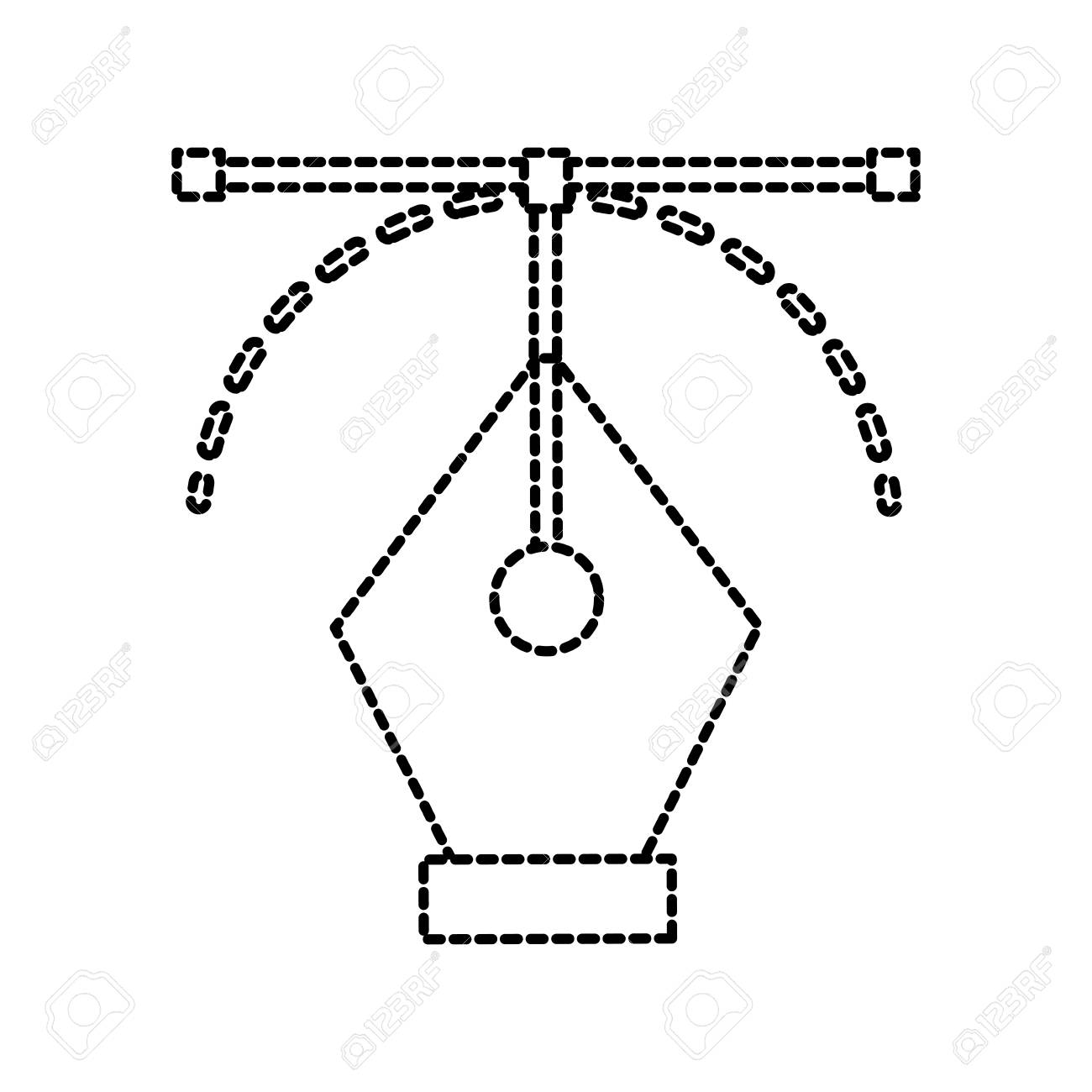 graphic design pen tool curve control vector illustration