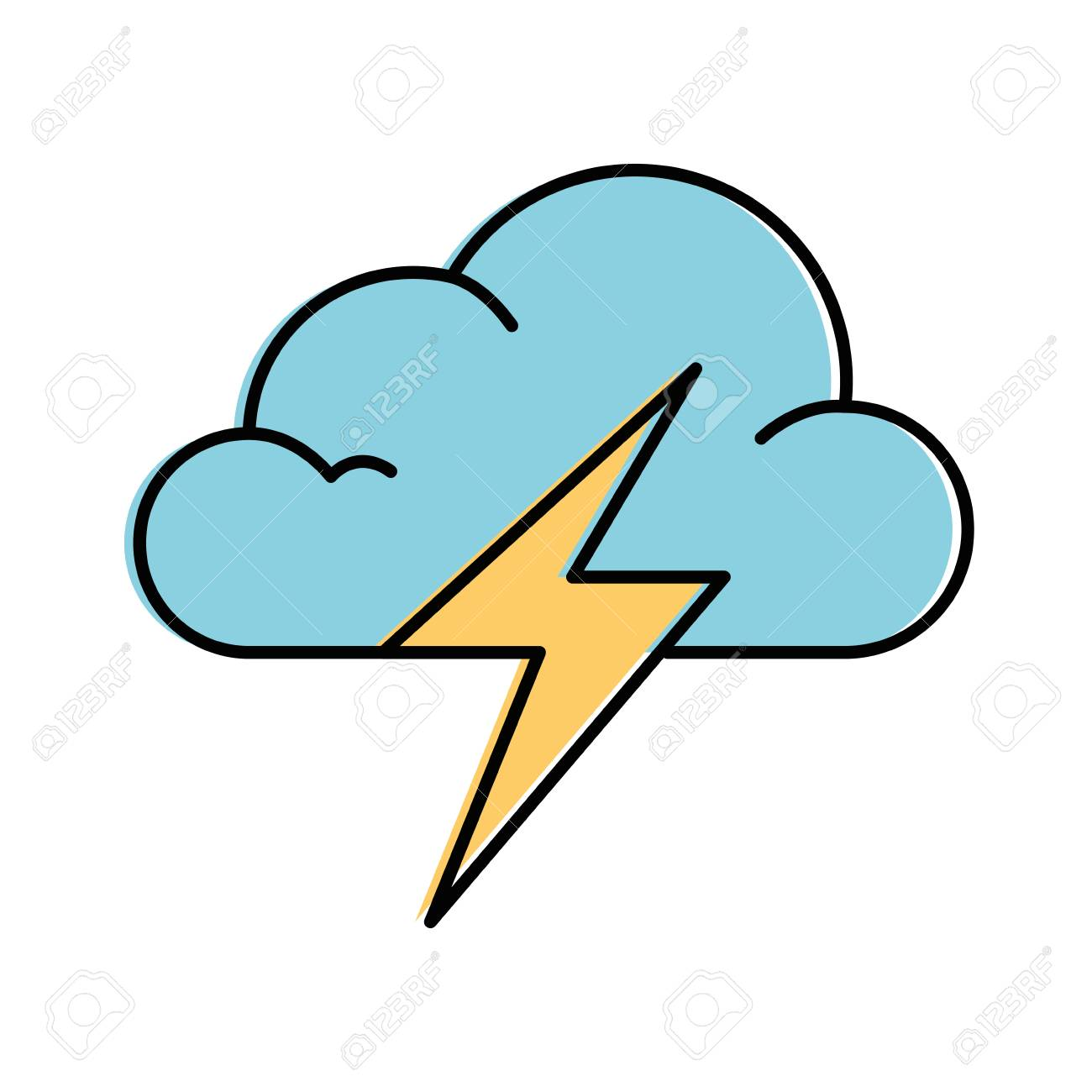 cloud weather with thunder vector illustration design royalty free cliparts vectors and stock illustration image 87692105 cloud weather with thunder vector illustration design