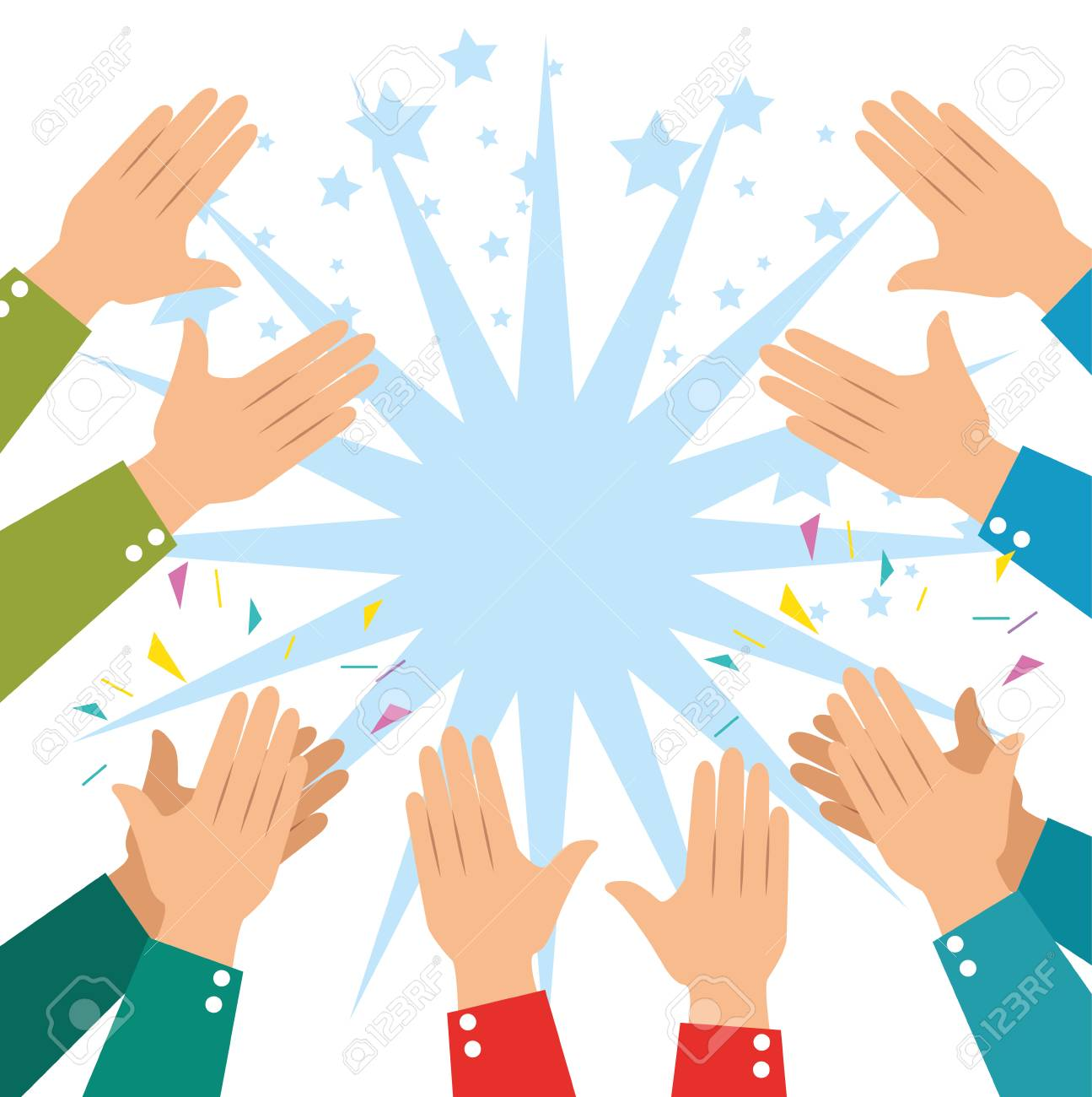 human hands clapping ovation applaud hands vector illustration graphic design - 87694282