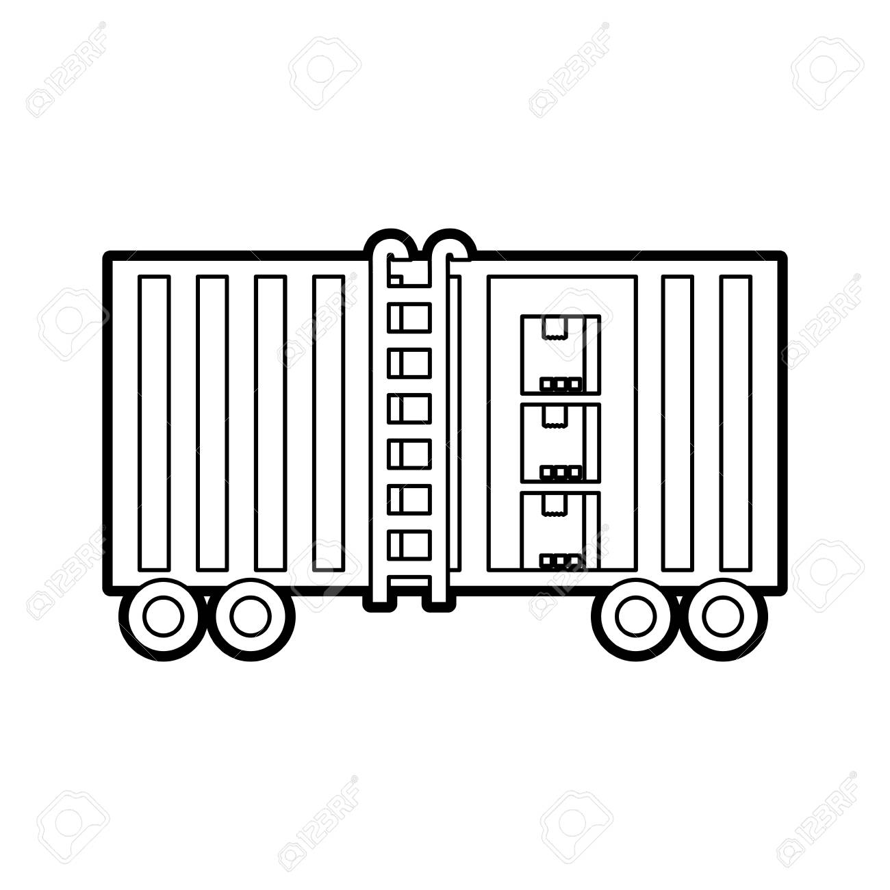 Image result for freight logistics vectors white black