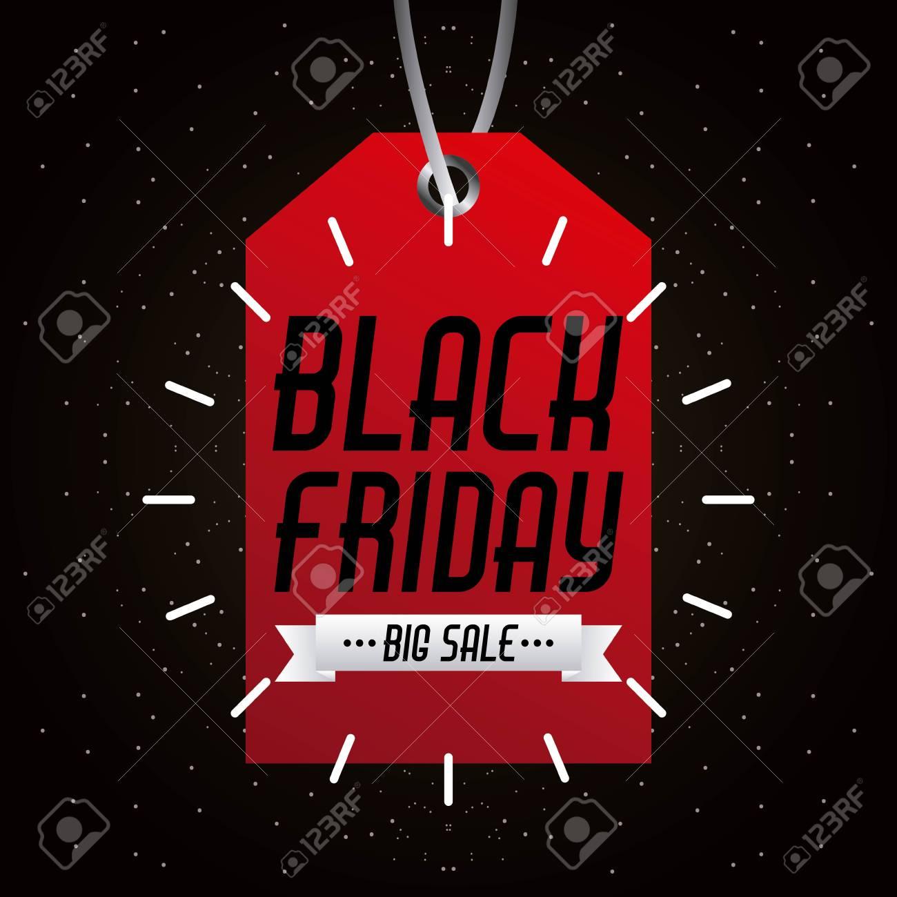 3204306da308 black friday big sale tag marketing inscription prom vector illustration Stock  Vector - 88116242
