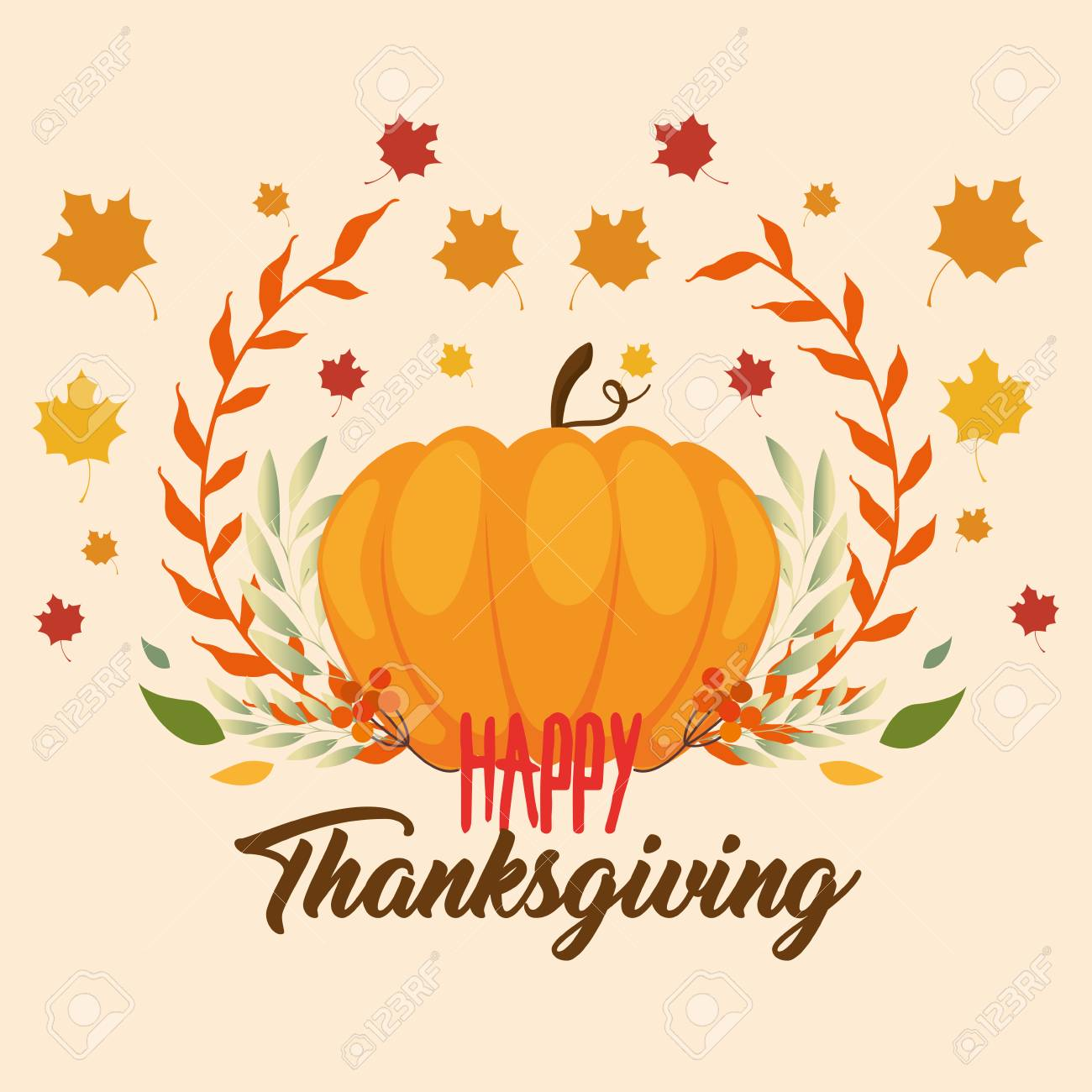 Happy thanksgiving day greeting card vector illustration graphic happy thanksgiving day greeting card vector illustration graphic design stock vector 88392918 m4hsunfo