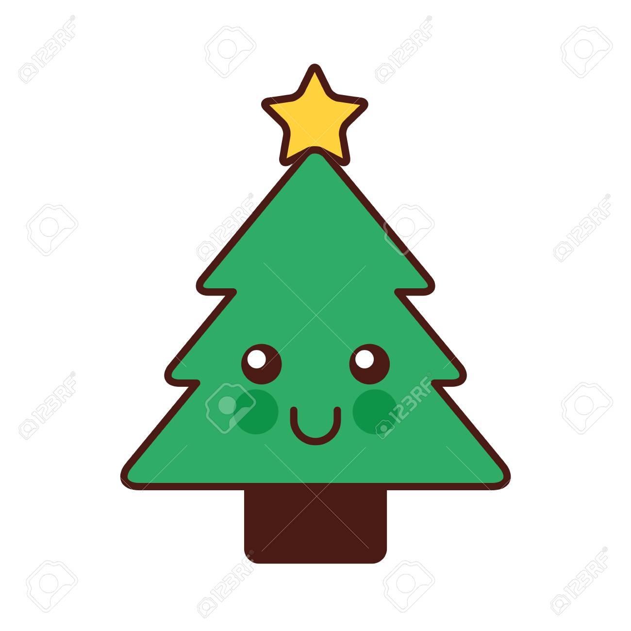 Kawaii Christmas Tree Pine Decoration Cartoon Vector Illustration Royalty Free Cliparts Vectors And Stock Illustration Image 88403677 Holidays, santa claus, snowman,gingerbread man, christmas elf, christmas tree, christmas pud развернуть. kawaii christmas tree pine decoration cartoon vector illustration