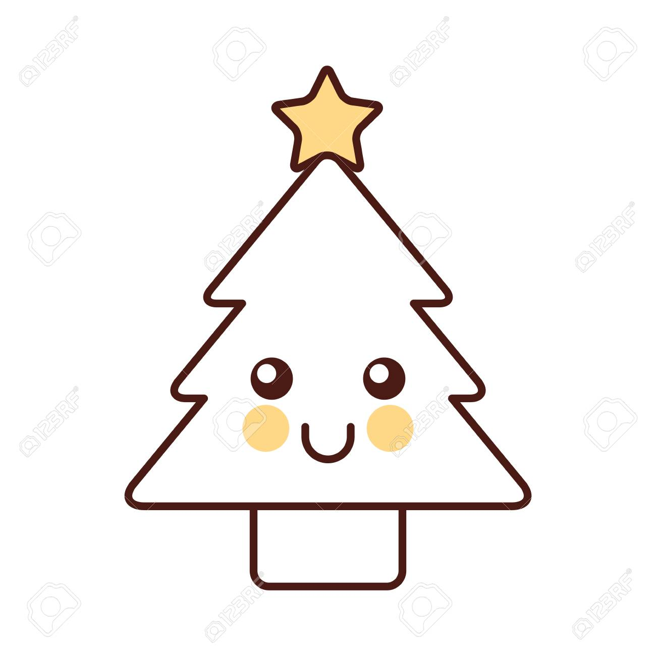 Kawaii Christmas Tree Pine Decoration Cartoon Vector Illustration Royalty Free Cliparts Vectors And Stock Illustration Image 88403646 Over 6,406 kawaii christmas pictures to choose from, with no signup needed. kawaii christmas tree pine decoration cartoon vector illustration
