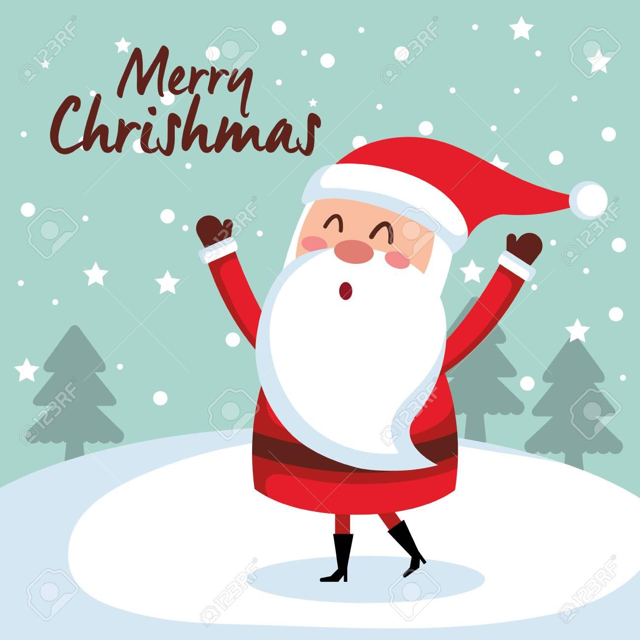 merry christmas santa character vector illustration design - 88433845