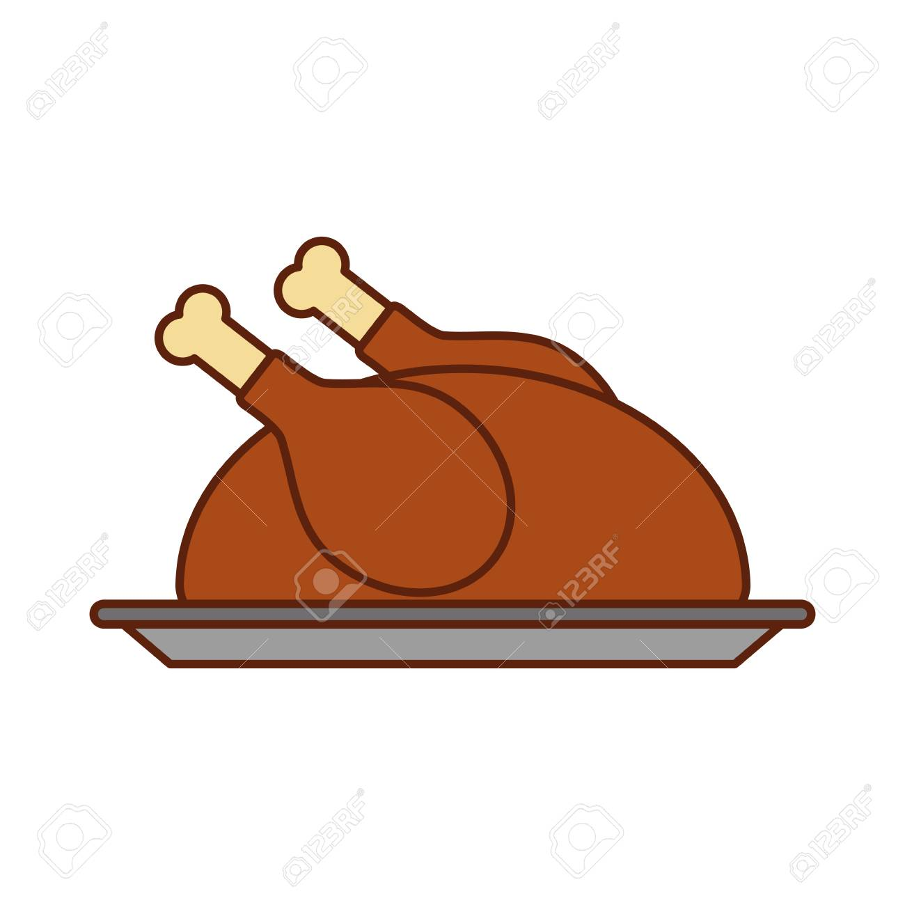Turkey Dinner Cartoon Traditional Food For Thanksgiving Day Vector Royalty Free Cliparts Vectors And Stock Illustration Image 88456316