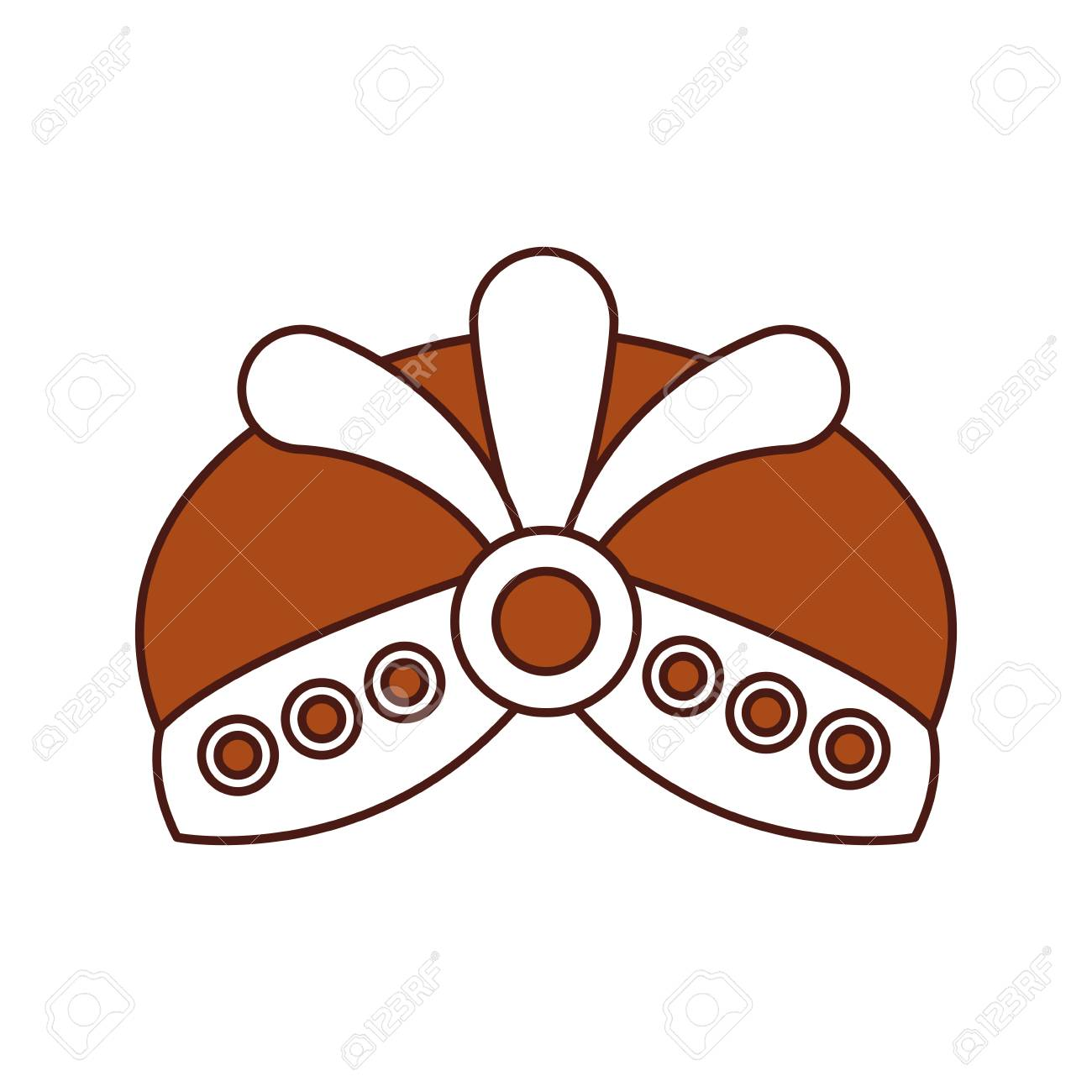 cartoon hat with jewelry king icon vector illustration royalty free