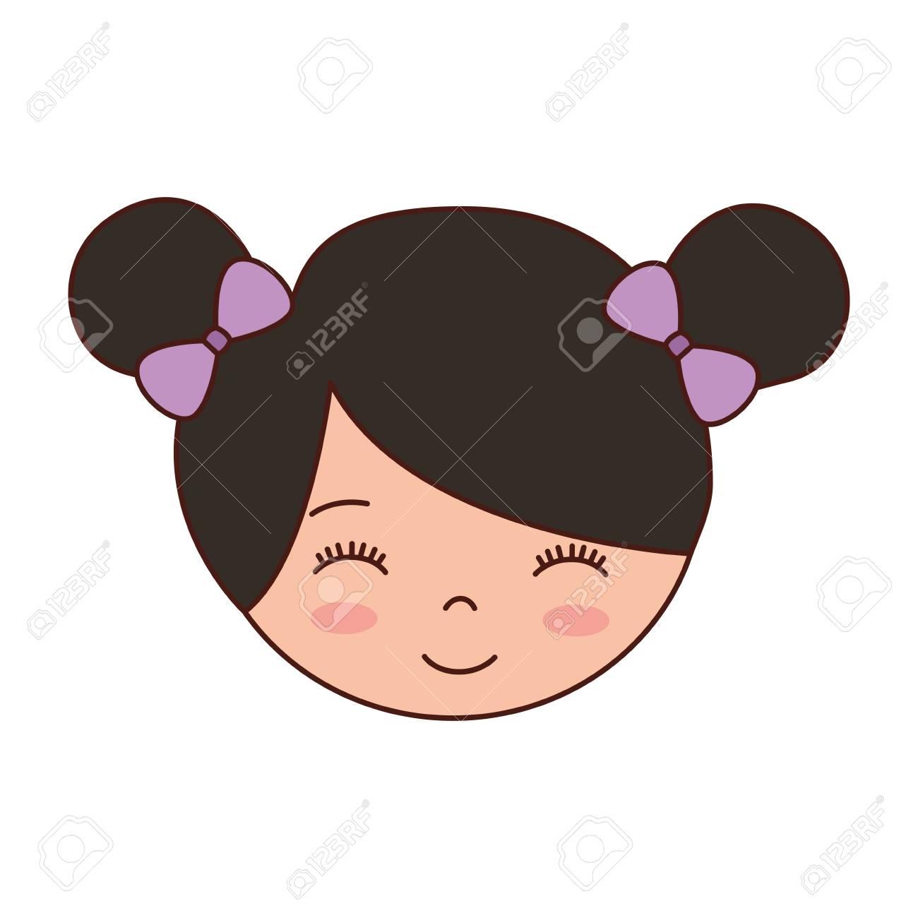 Joli Visage Petite Fille Ballerine Dessin Animé Caractère Vector Illustration