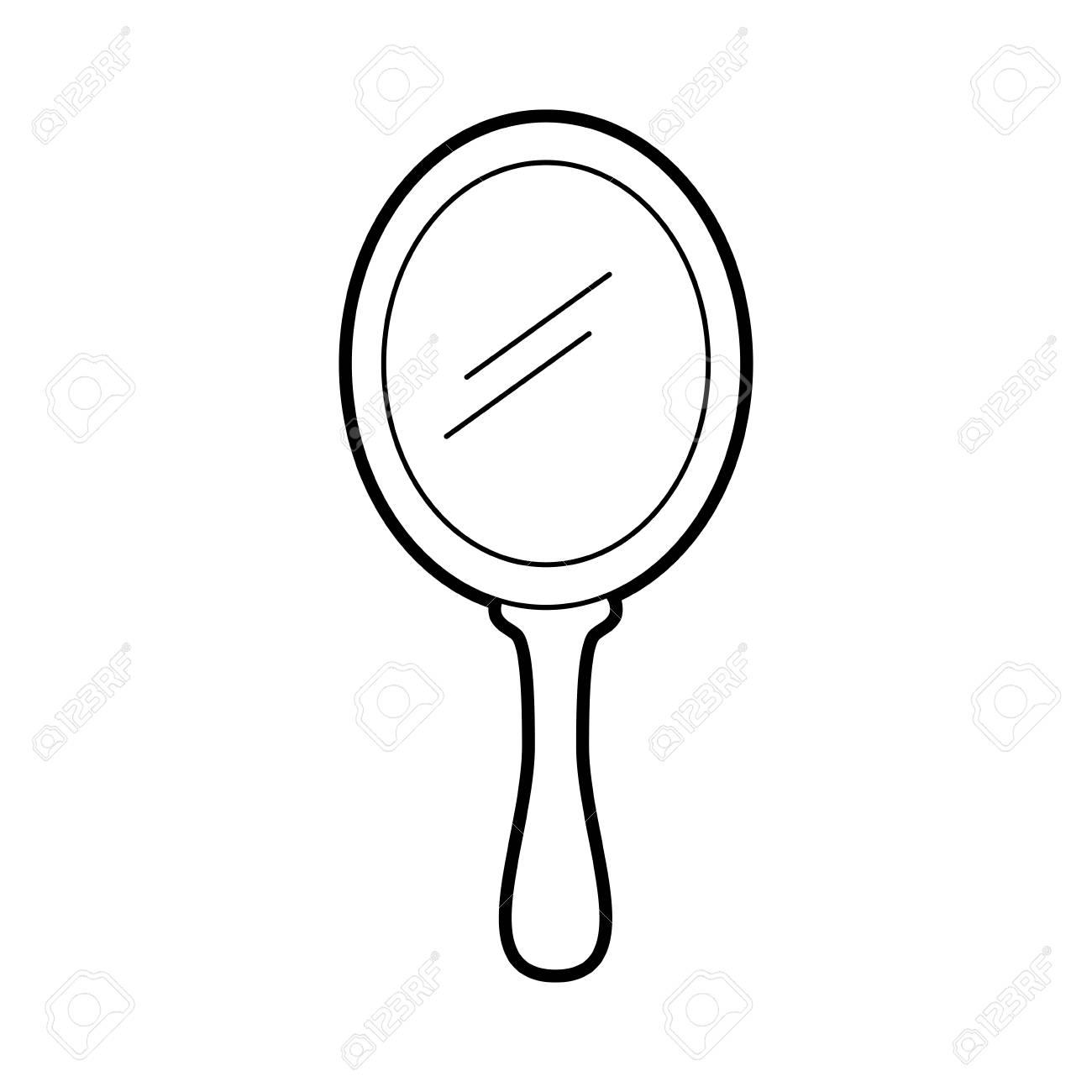 princess mirror glass handle accessory vector illustration - 88547253