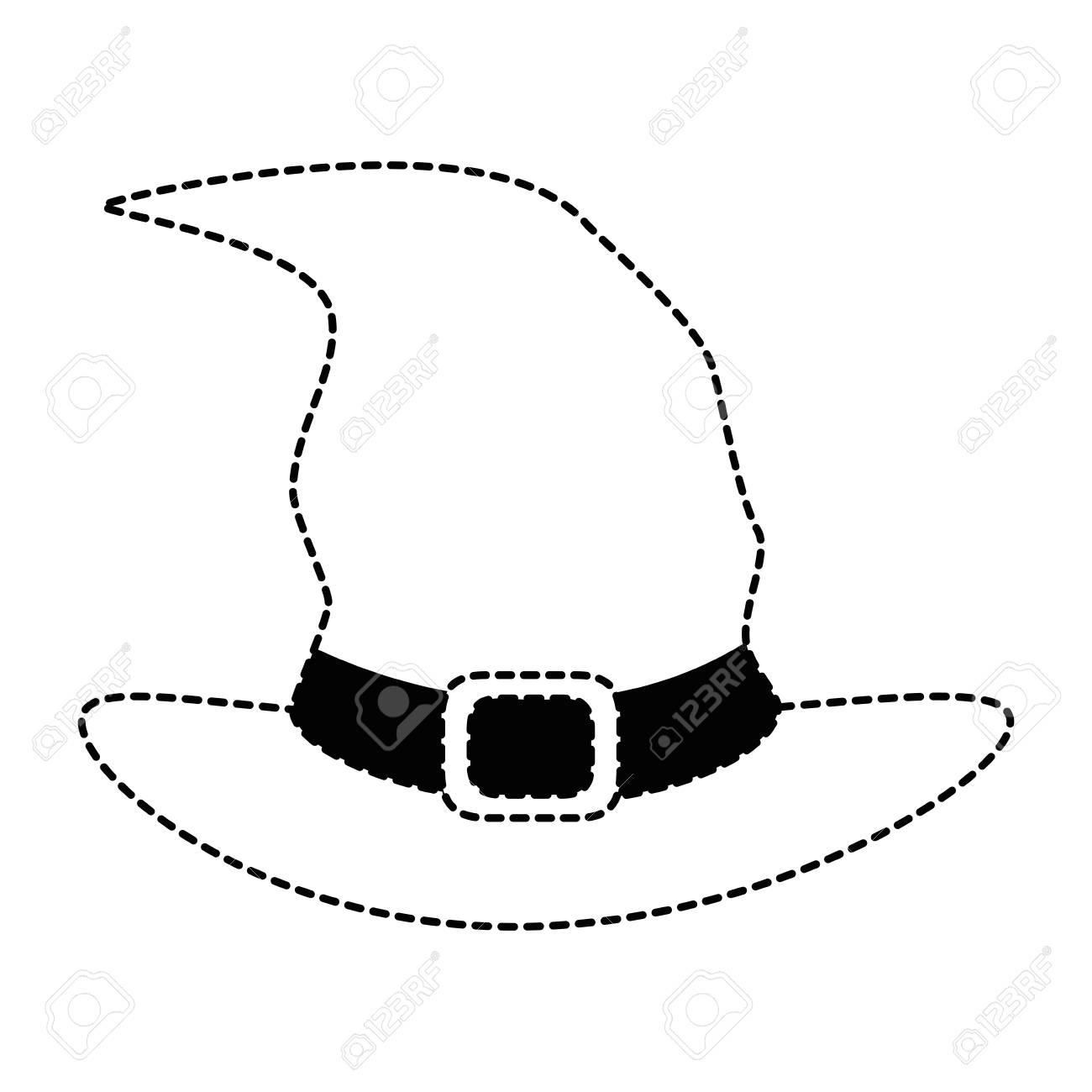 Chapeau De Sorcière Isolé Icône Dessin De Vecteur D Illustration