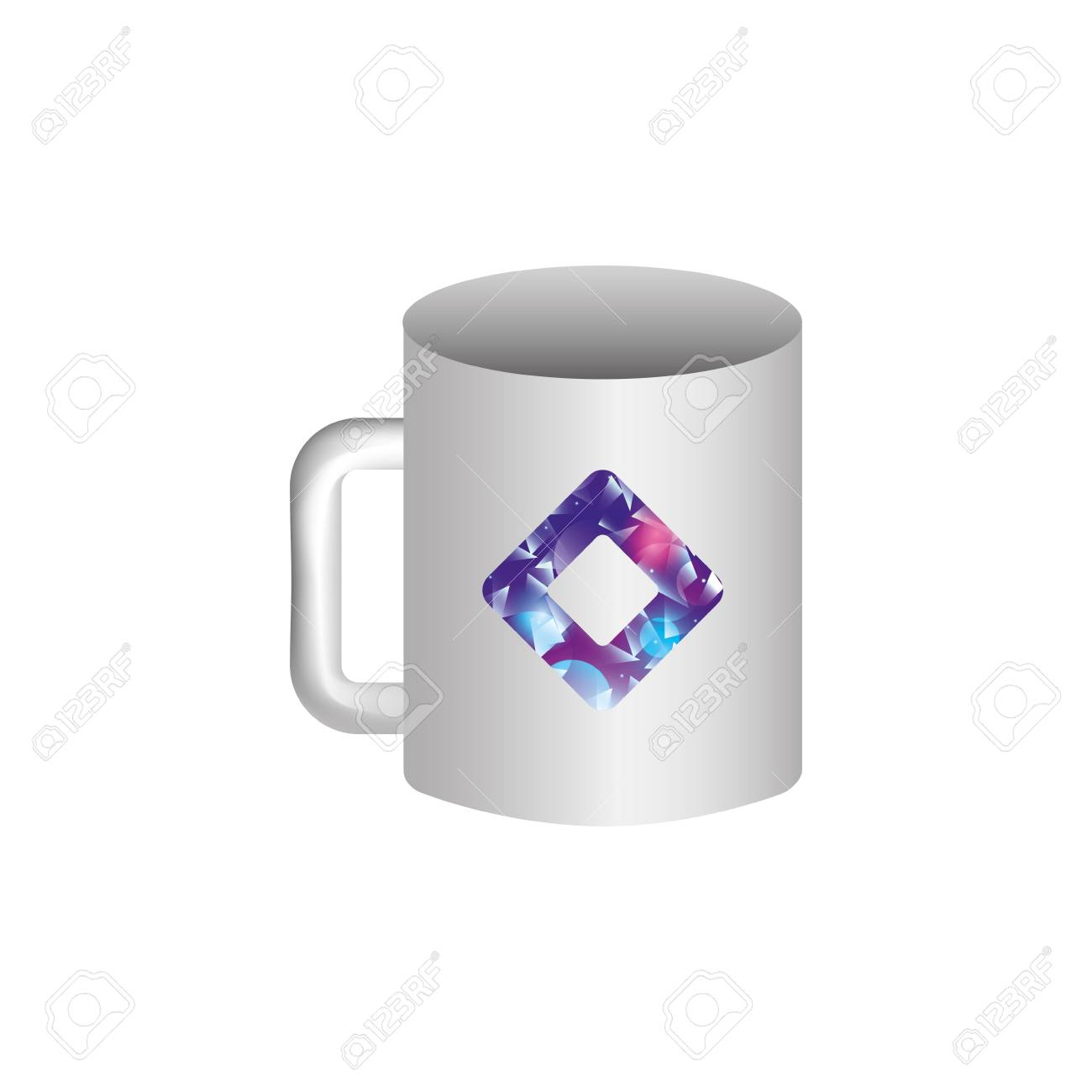 Mockup Of Corporate Ceramic Mug Template For Branding Identity Royalty Free Cliparts Vectors And Stock Illustration Image 88893934