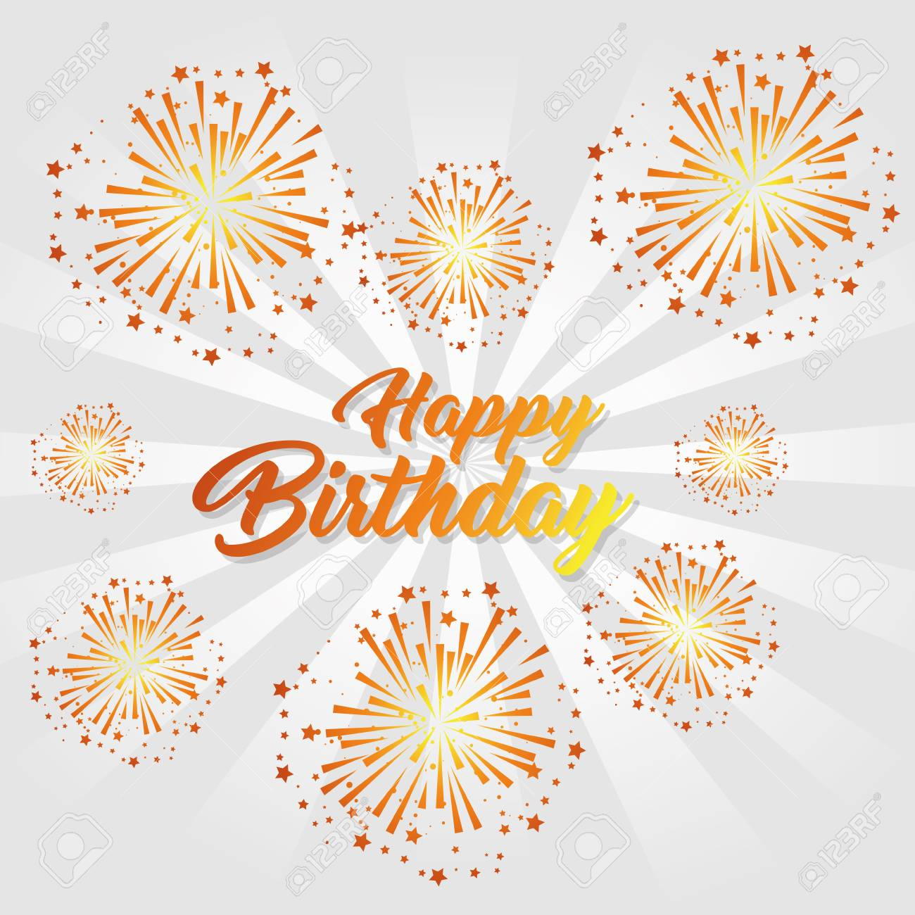 Happy birthday greeting card colorful fireworks vector illustration happy birthday greeting card colorful fireworks vector illustration graphic design stock vector 89343564 m4hsunfo
