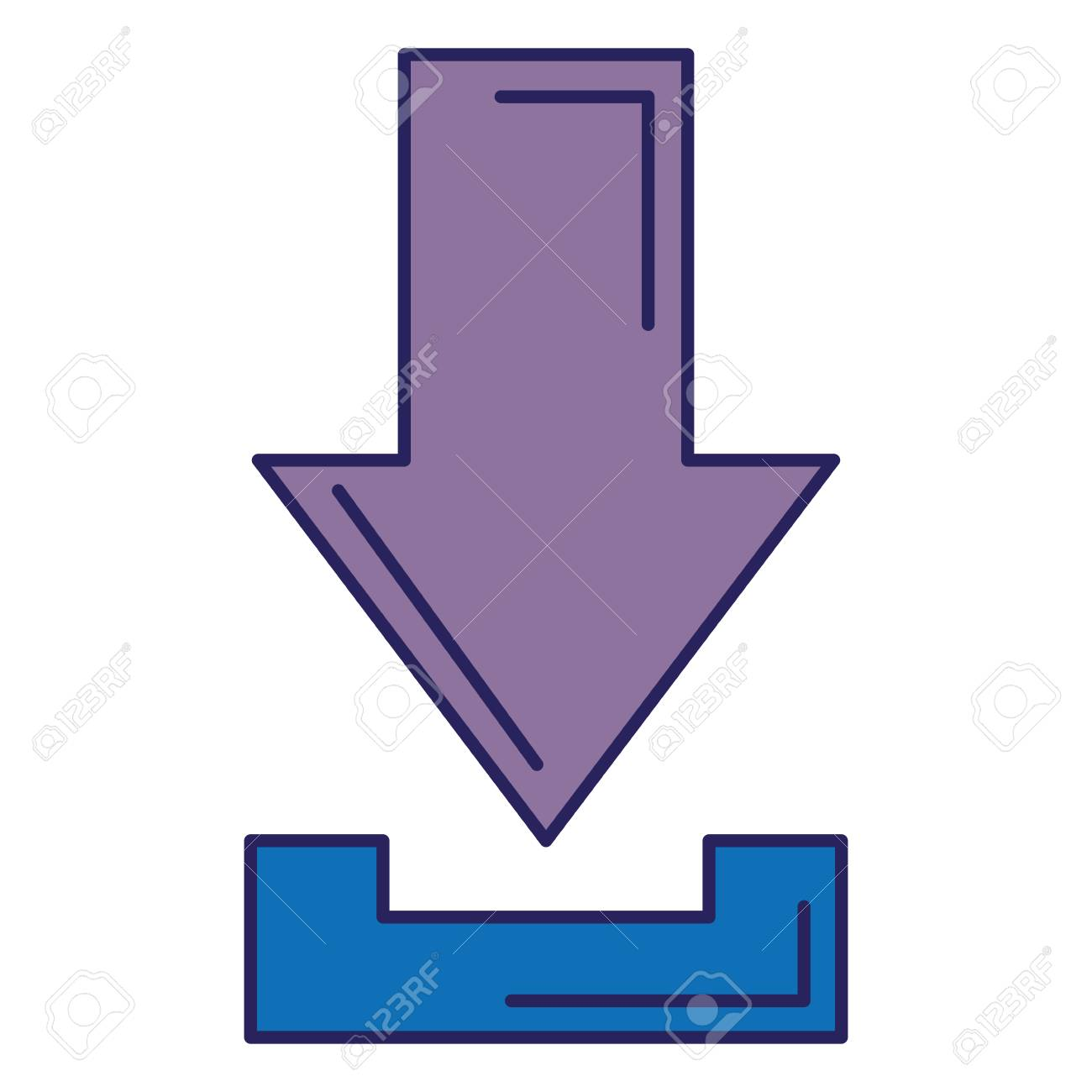 arrow download isolated icon vector illustration design - 89507863