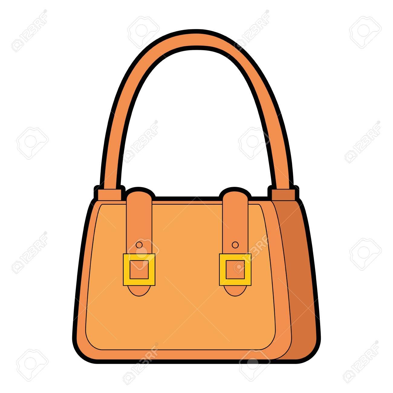 Femme sac à main élégante icône illustration vectorielle, graphisme.