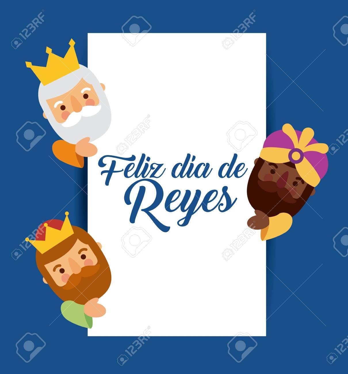 Feliz Dia De Reyes Fotos.Feliz Dia De Los Reyes Three Magic Kings Bring Presents To Jesus