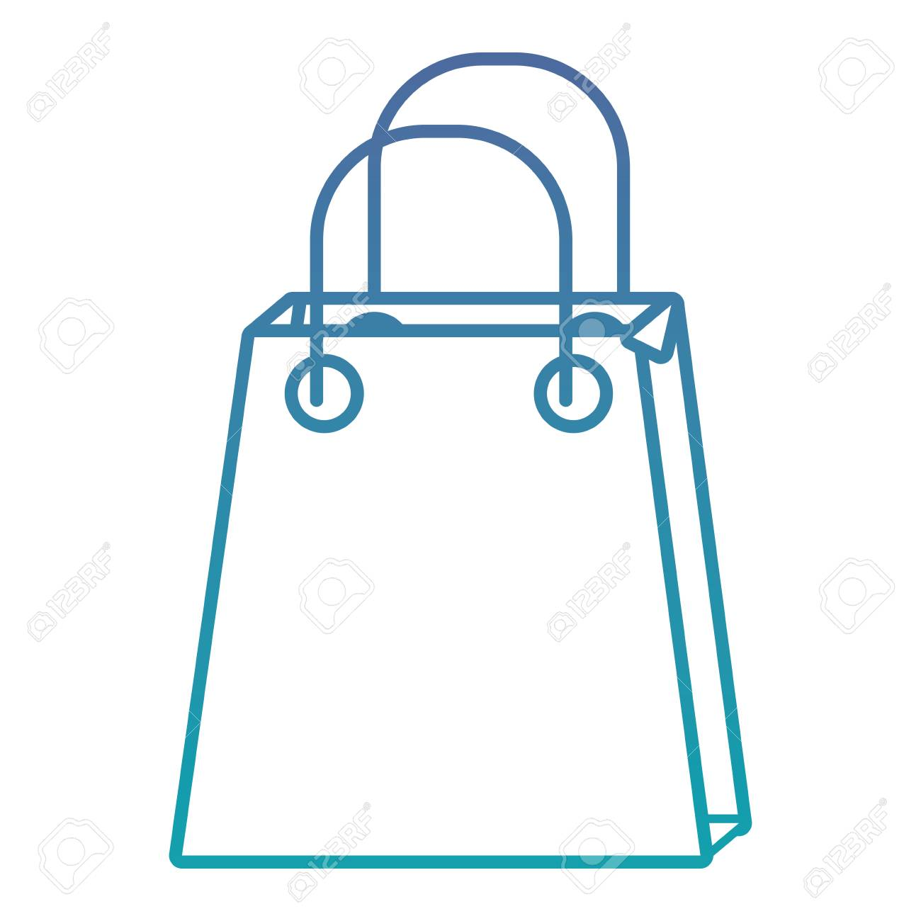 christmas paper bag gift shopping season vector illustration - 90163632
