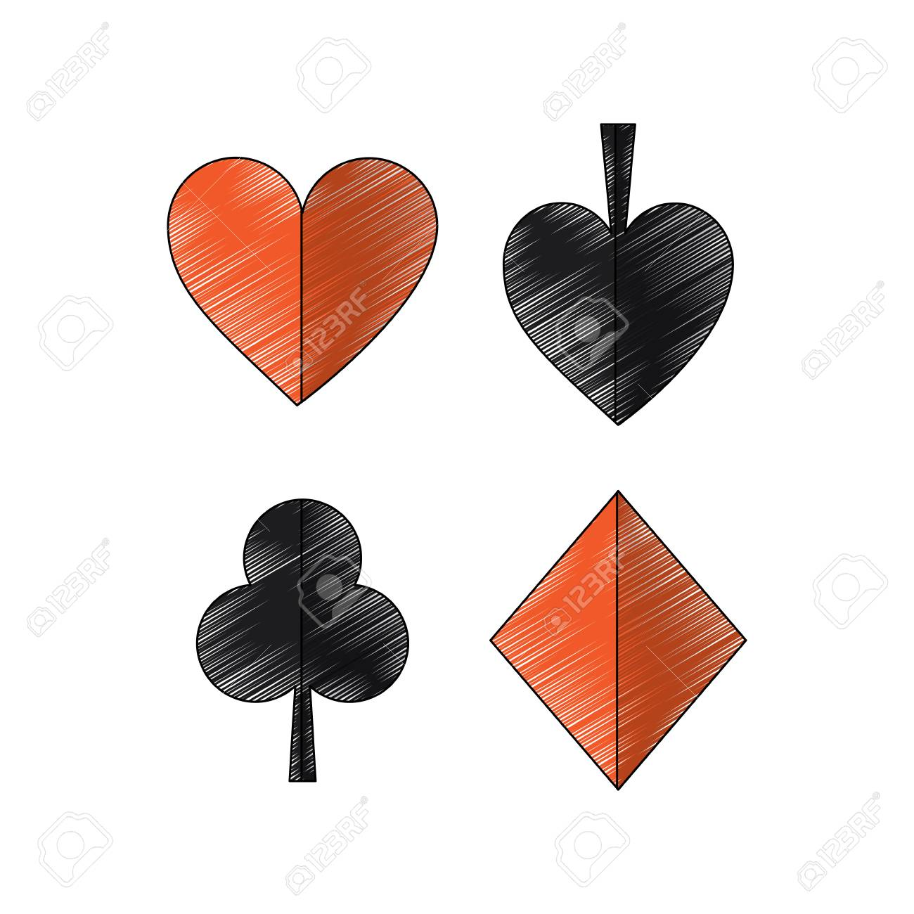 spade clover card  suits diamond pike spade tile clover clubs hearts french playing..