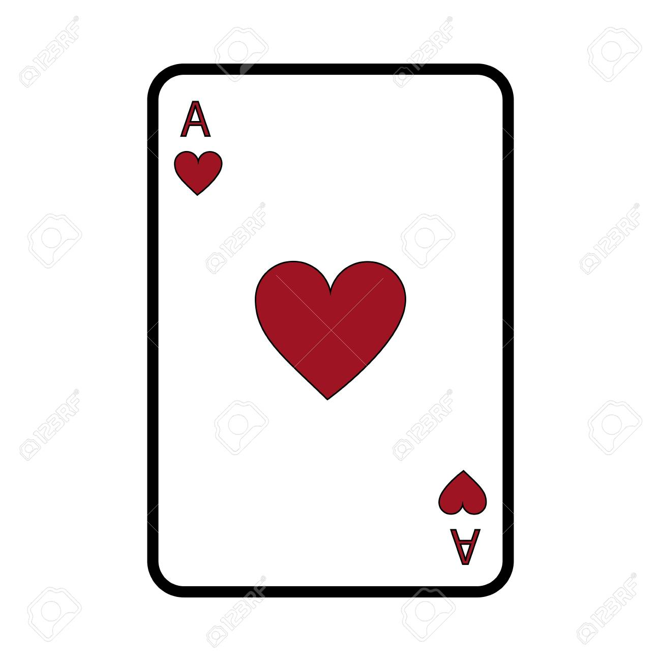 Poker Casino Ace Heart Card Playing Icon Vector Illustration Royalty Free Cliparts Vectors And Stock Illustration Image 90180146