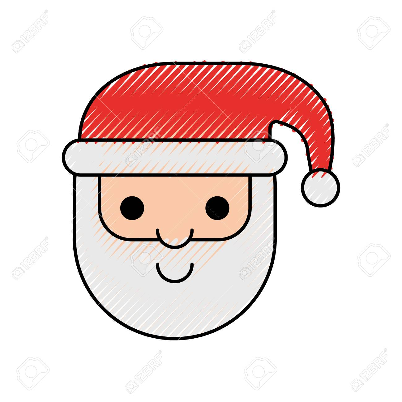 e711145caba99 Santa claus christmas cartoon character with hat and beard vector  illustration Stock Vector - 90316520