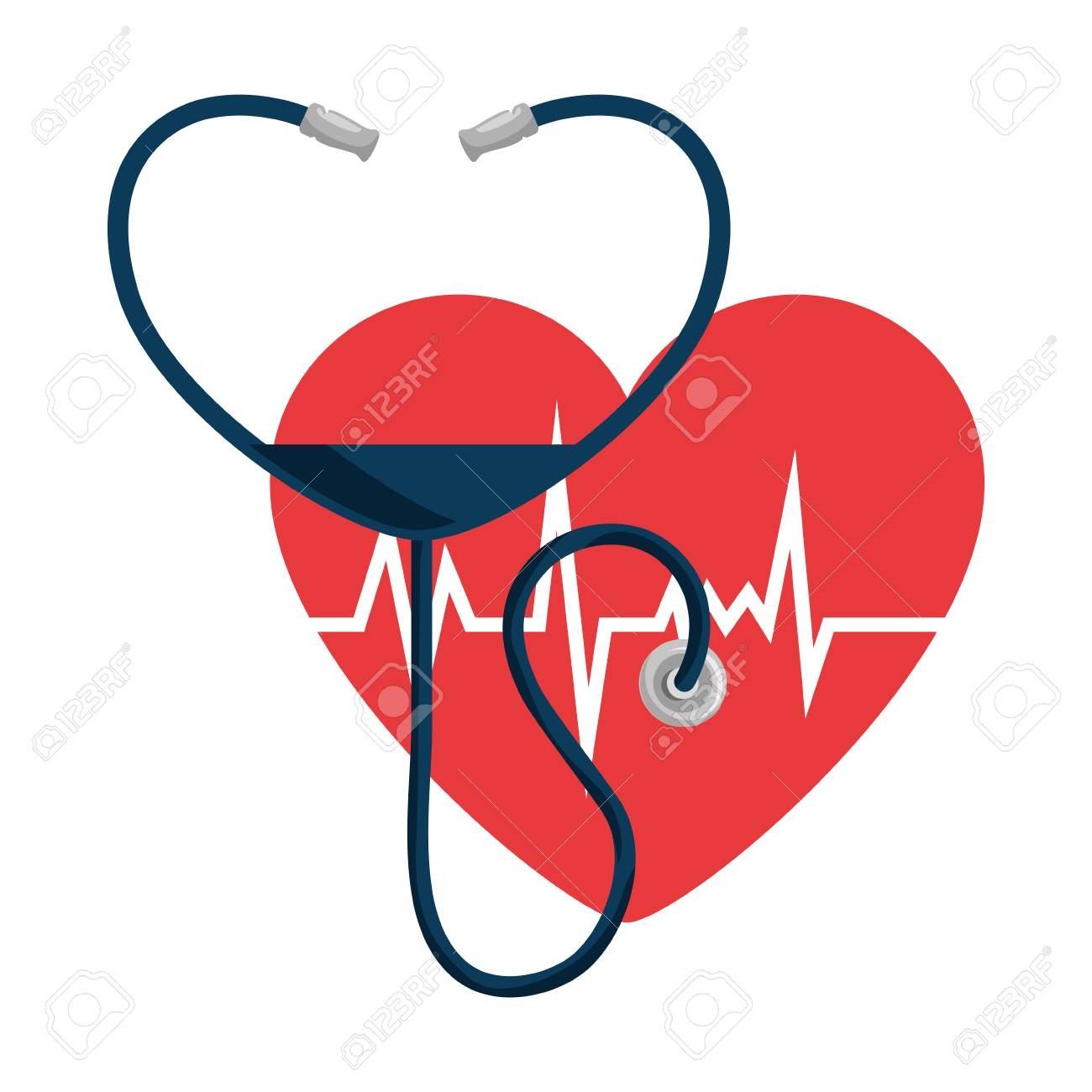 heart with stethoscope medical vector illustration design royalty rh 123rf com medical heart icon vector medical heart icon vector