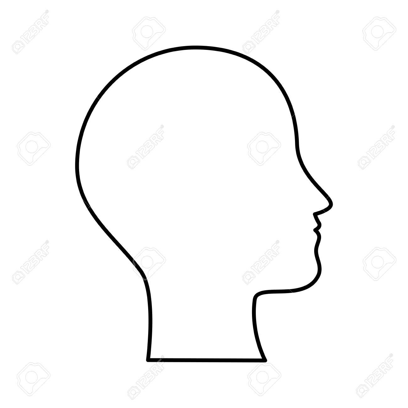 human profile isolated icon vector illustration design - 90406682