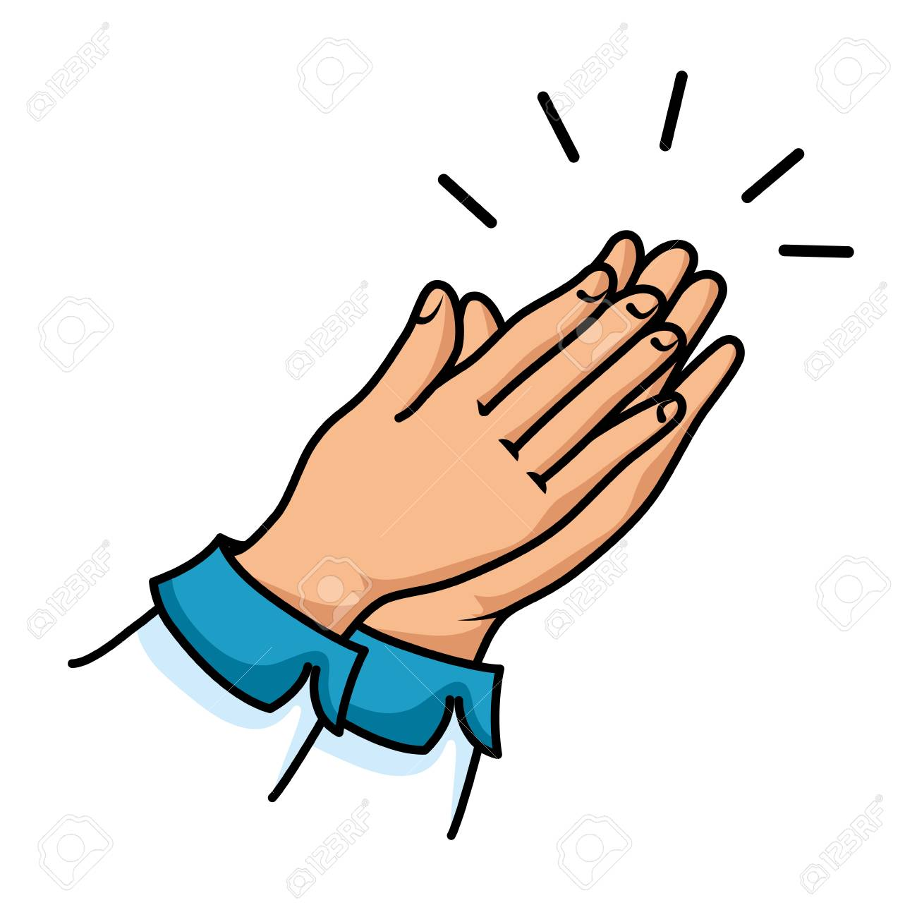 hands applauding isolated icon vector illustration design - 90472218