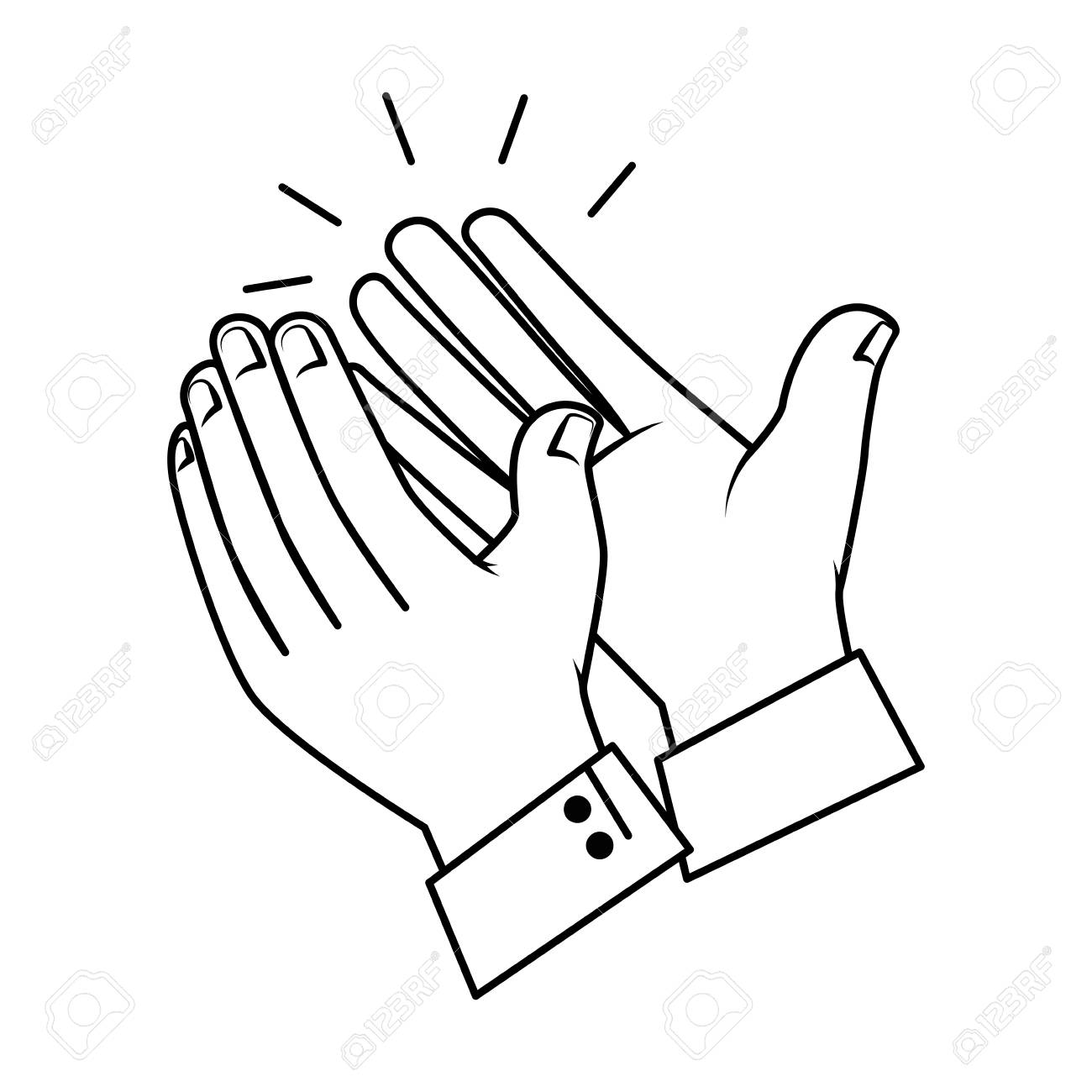 hands applauding isolated icon vector illustration design - 90474704