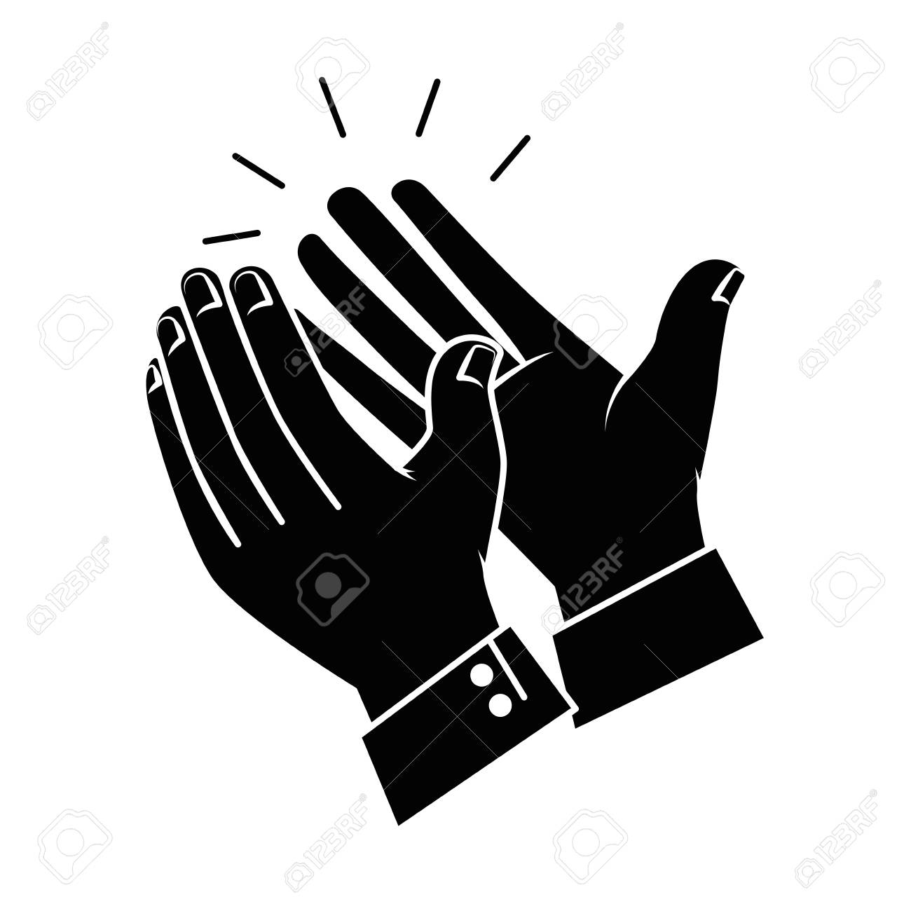 hands applauding isolated icon vector illustration design - 90474431