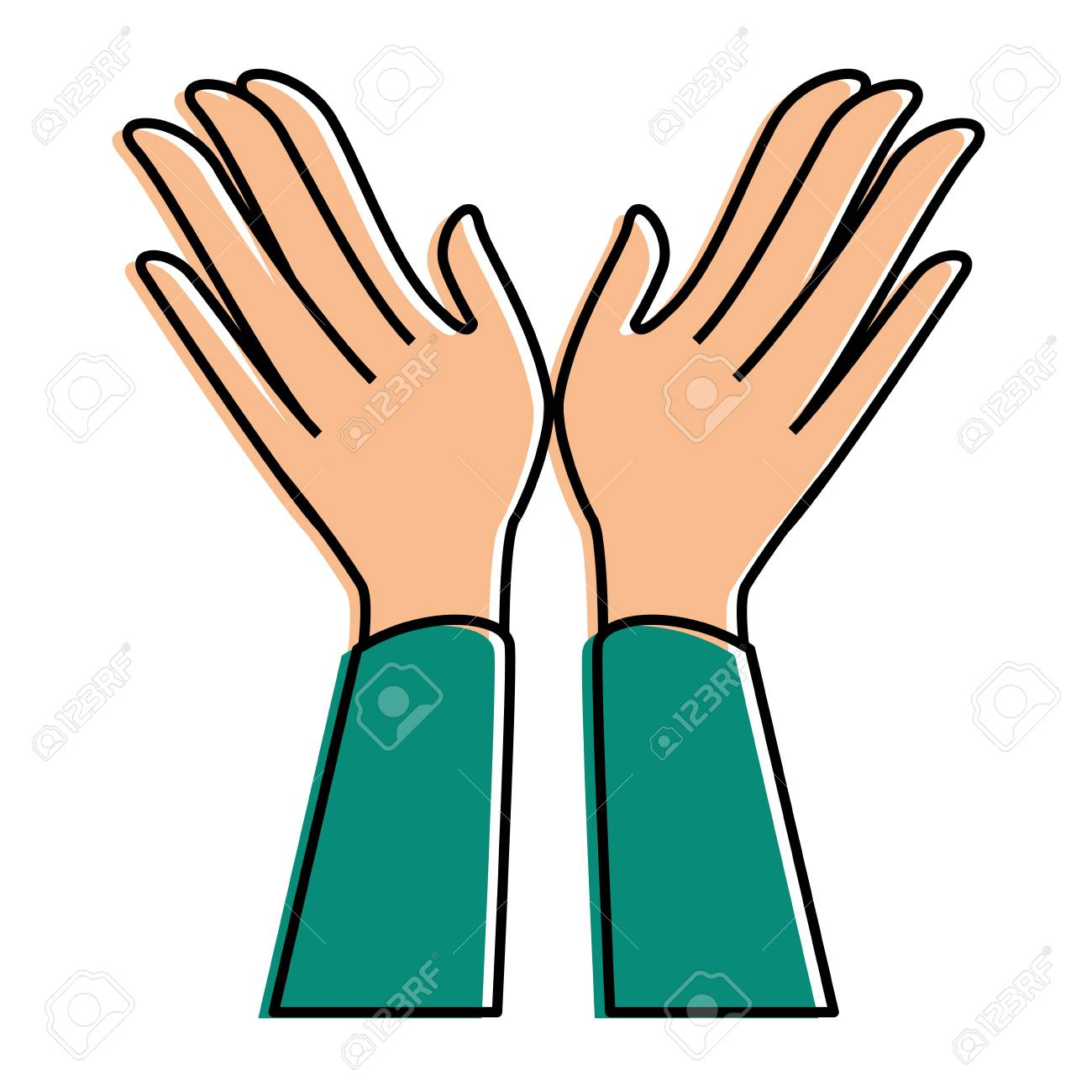 hands applauding isolated icon vector illustration design - 90472543