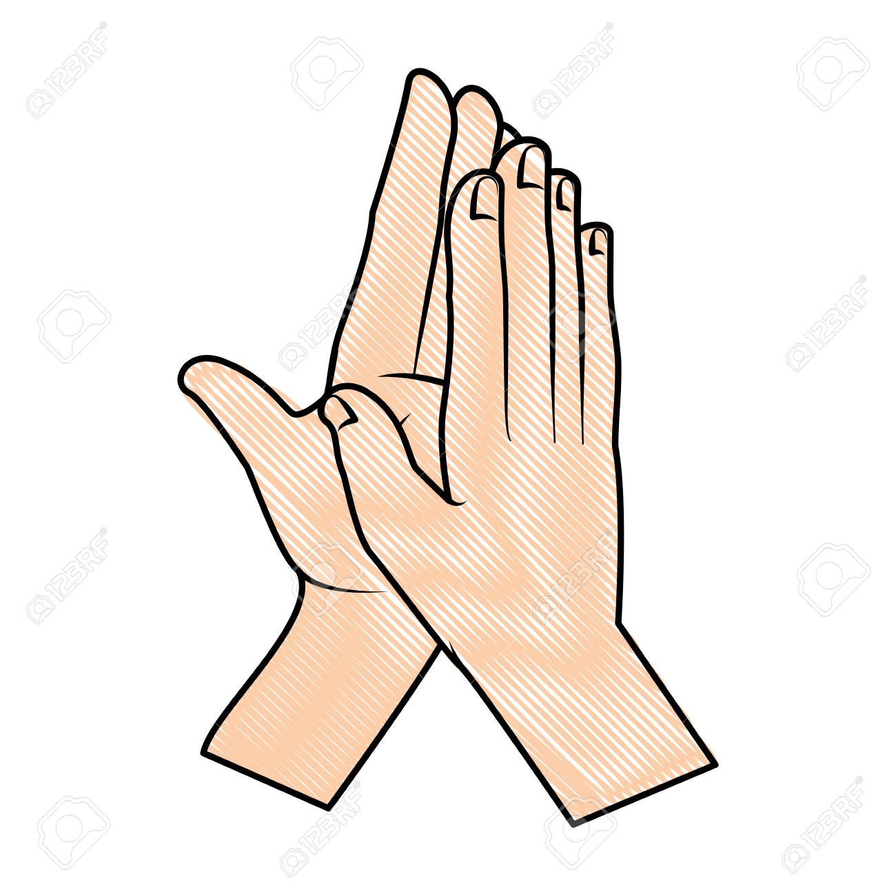 hands applauding isolated icon vector illustration design - 90507756