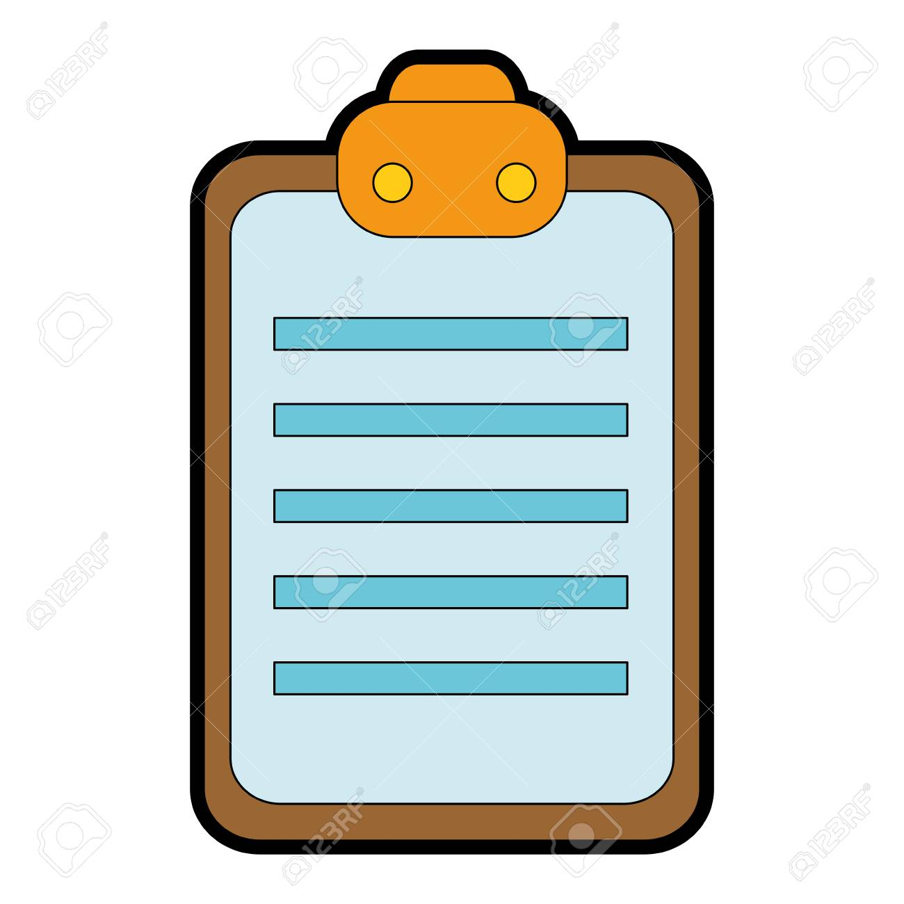 checklist clipboard isolated icon vector illustration design stock vector 90525791